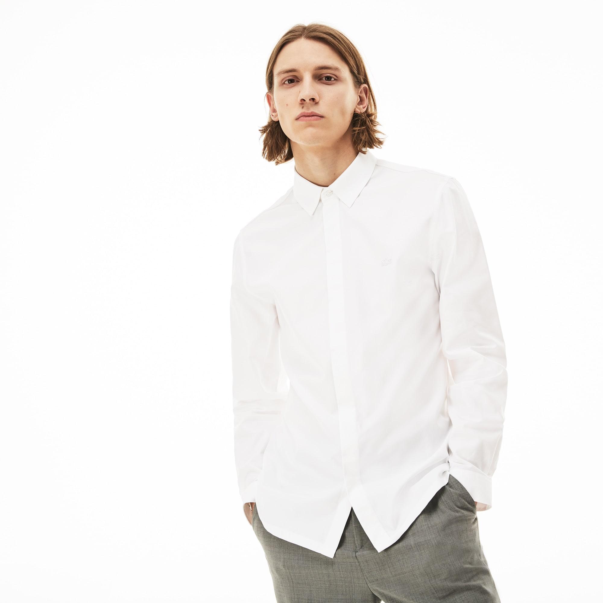 Camisa De Hombre Lacoste Motion Slim Fit En Mini Piqué De Algodón