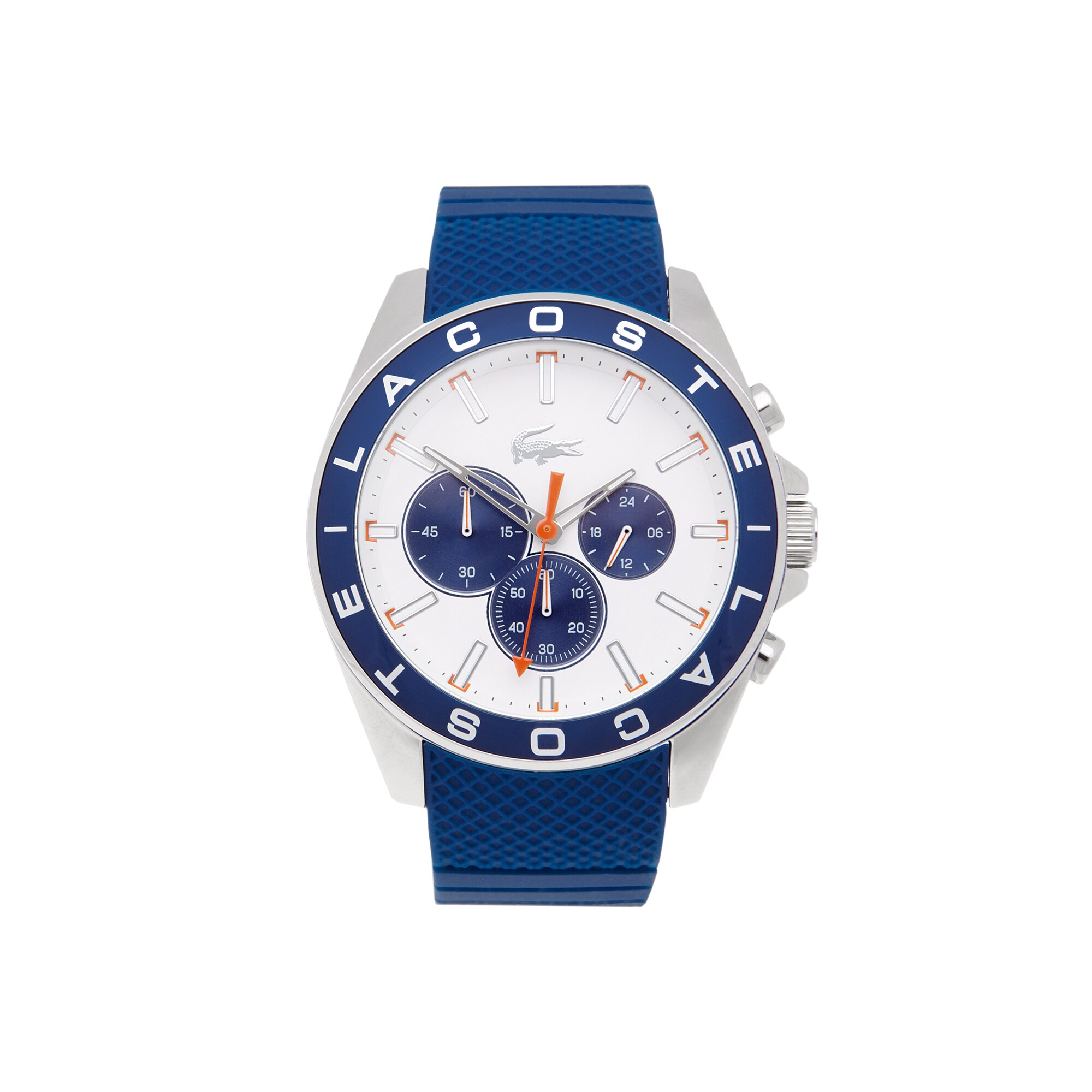 Westport chronograph Watch - blue silicone strap