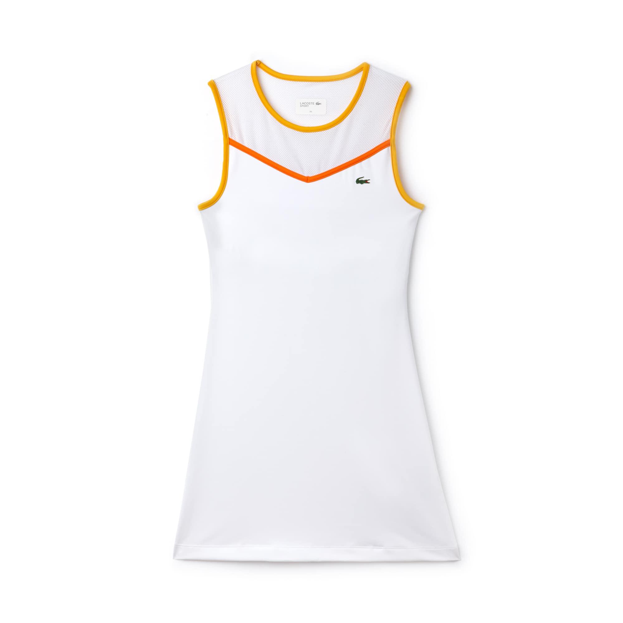 Vestido con espalda de nadadora Tenis Lacoste SPORT de punto técnico y malla