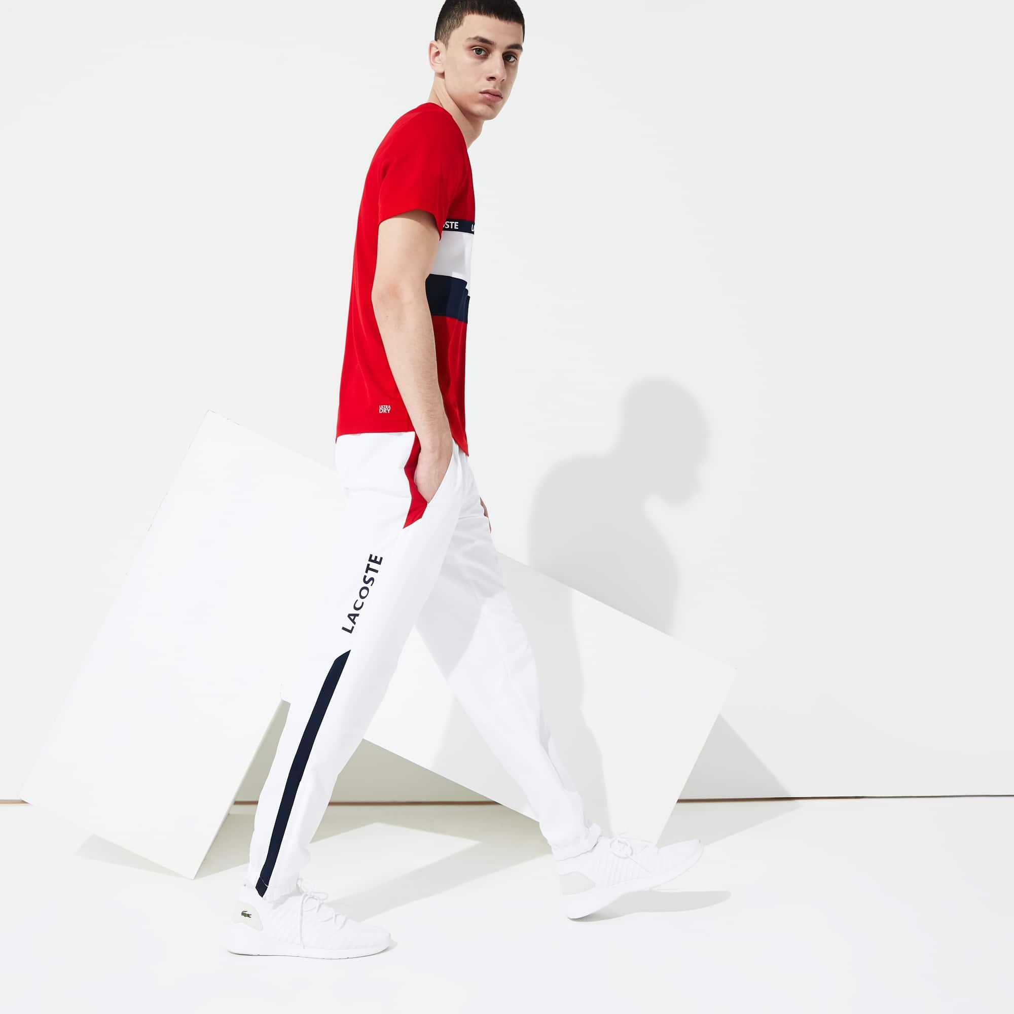 Pantalón de deporte de hombre Lacoste SPORT color block con inscripción