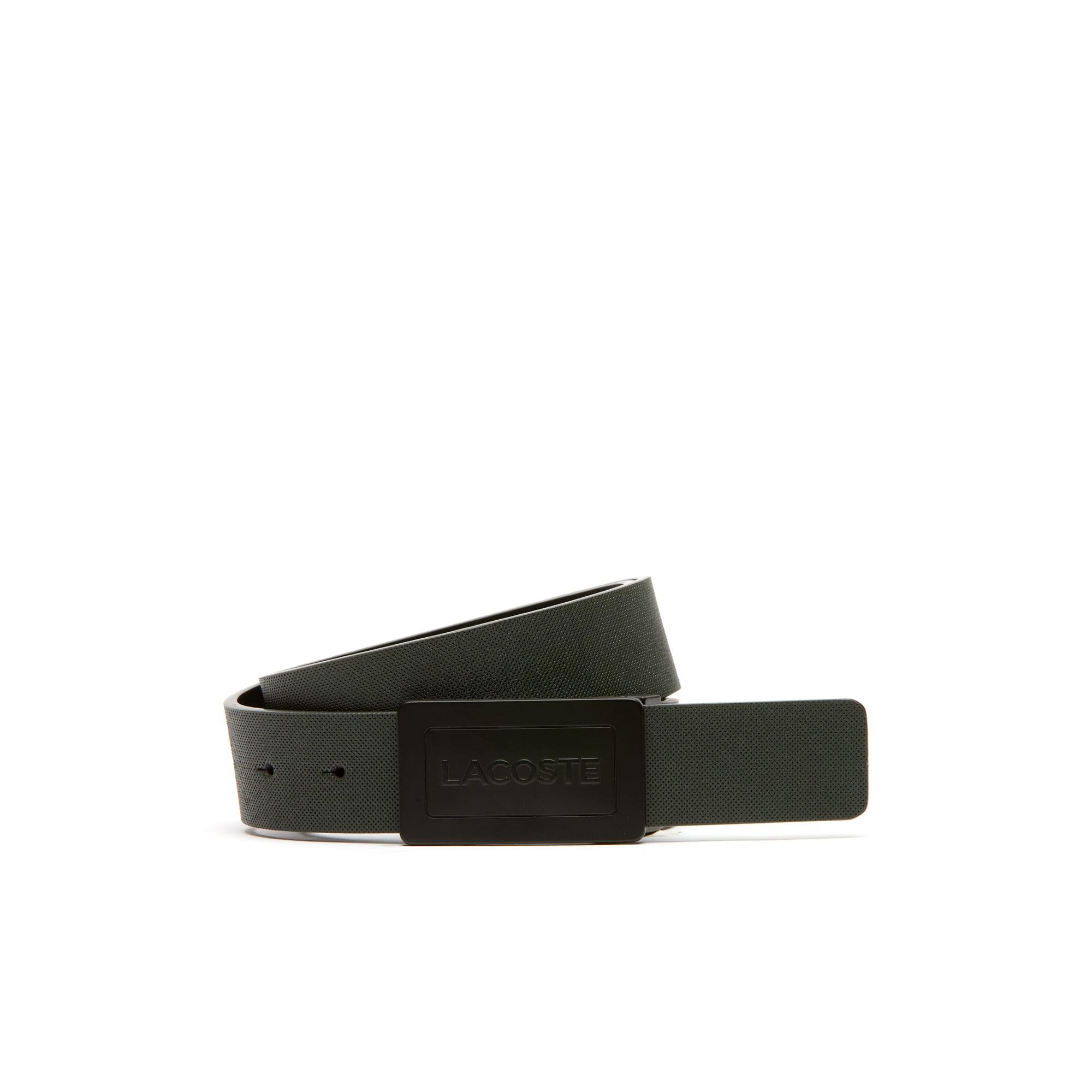 Cinturón Edwards reversible de cuero con petit piqué repujado