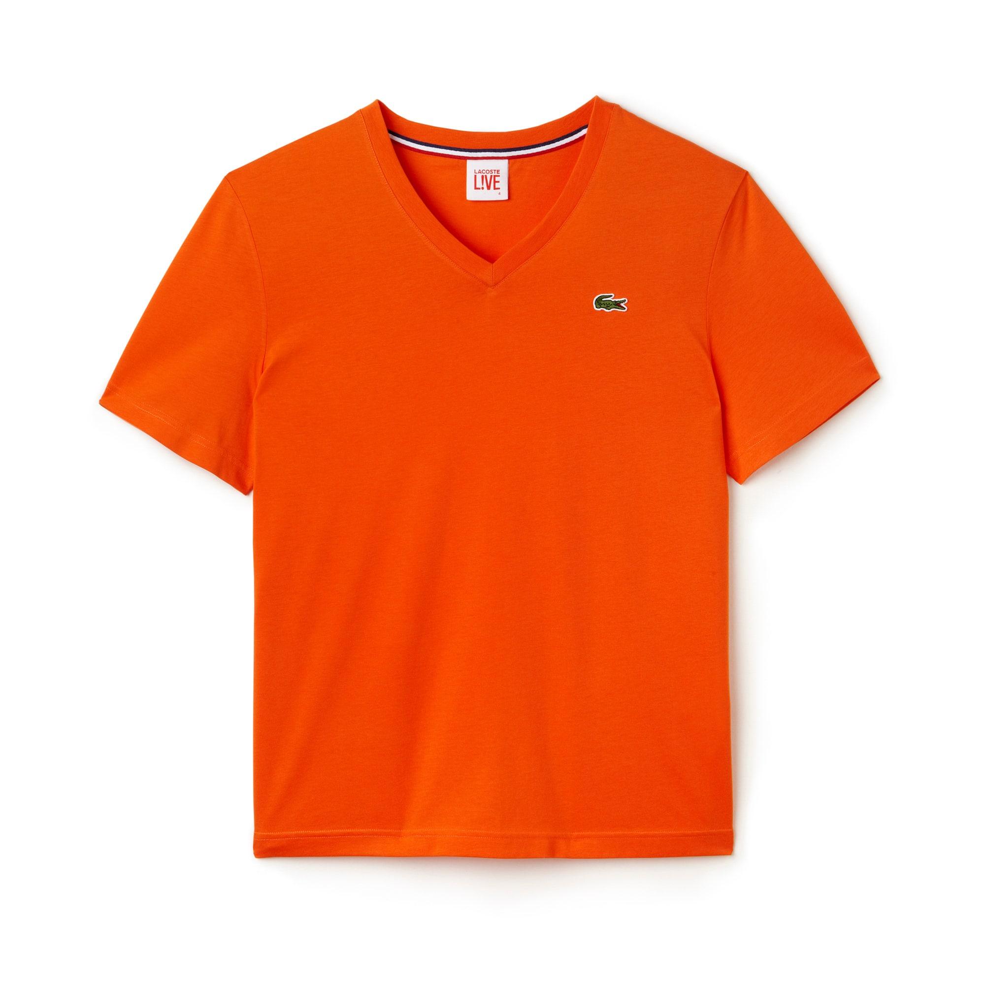 Camiseta Lacoste LIVE ultra-slim con cuello a pico de punto jersey
