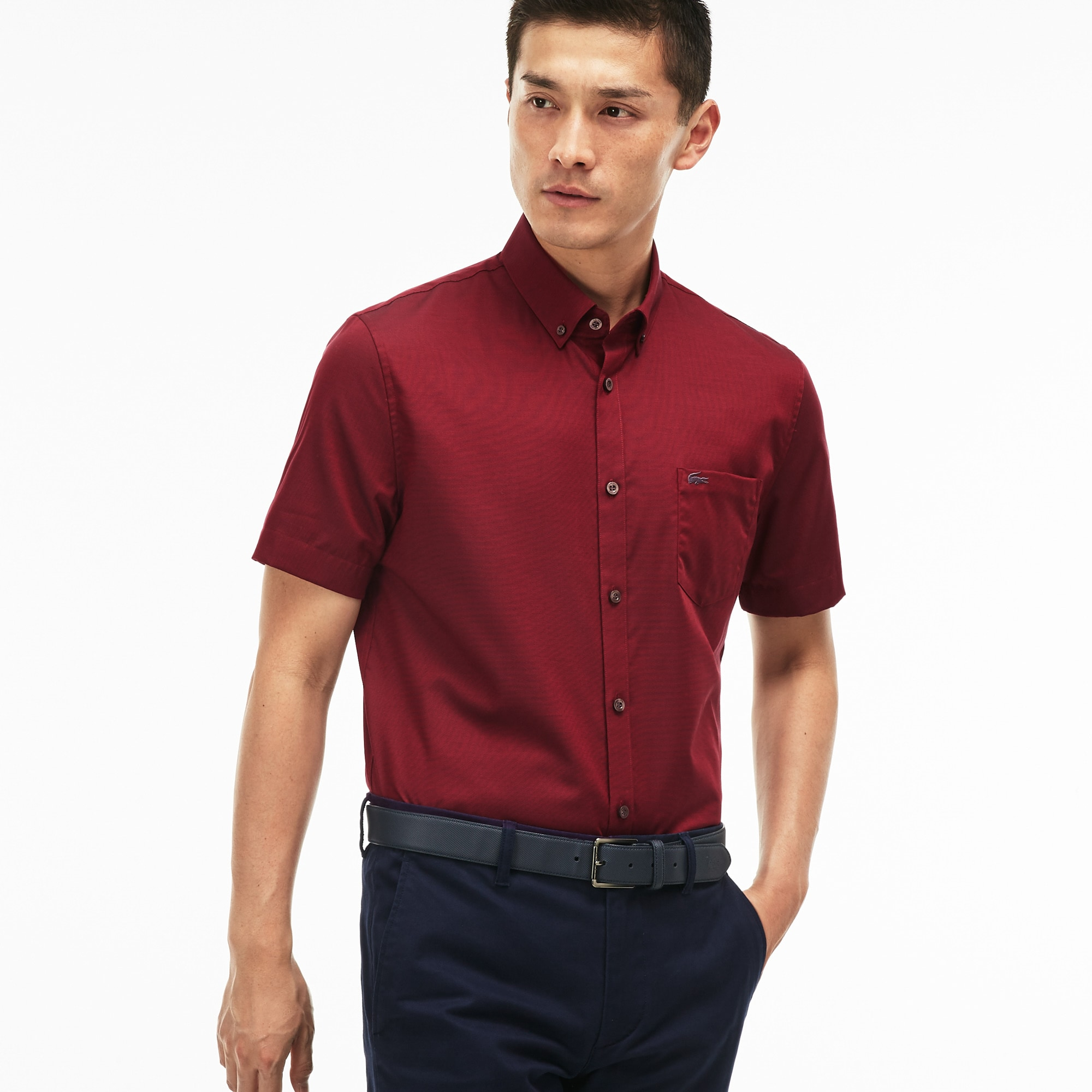 Men's Regular Fit Mini Piqué Shirt