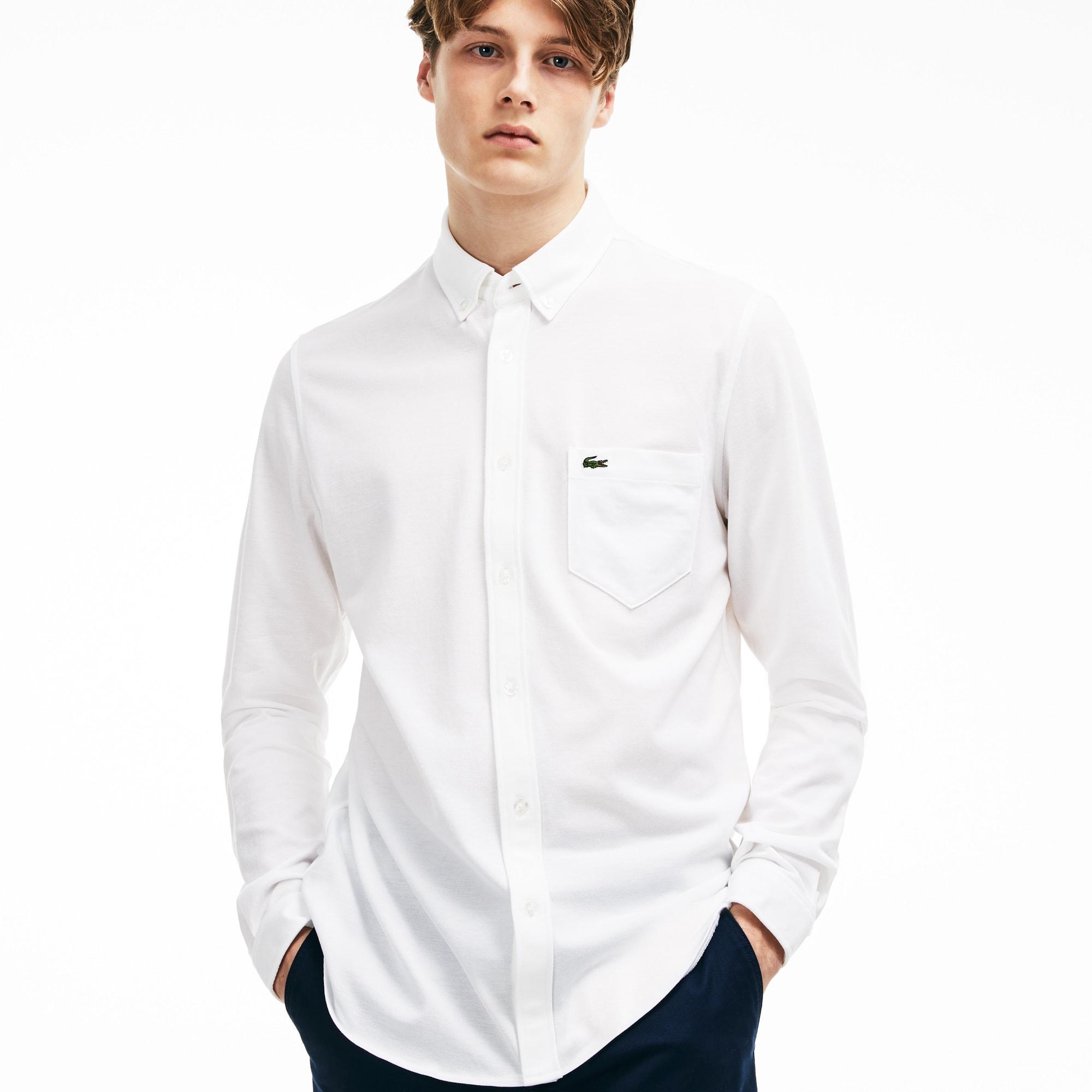 Camisa Hombre Algodón Slim Fit