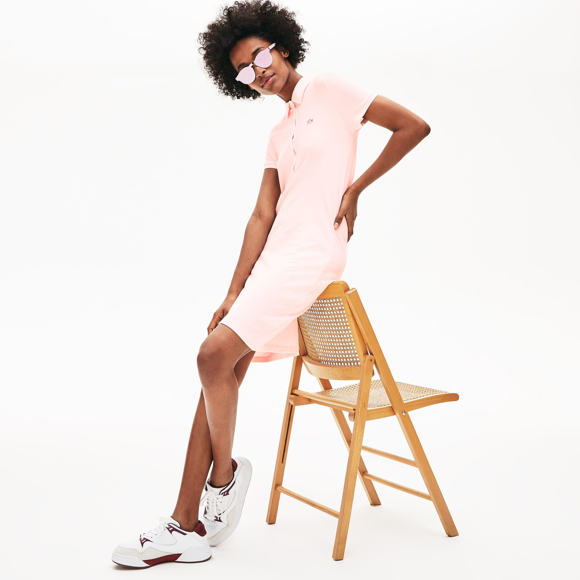 Vestido Polo De Mujer En Mini Piqué De Algodón Elástico 7b957ca0af