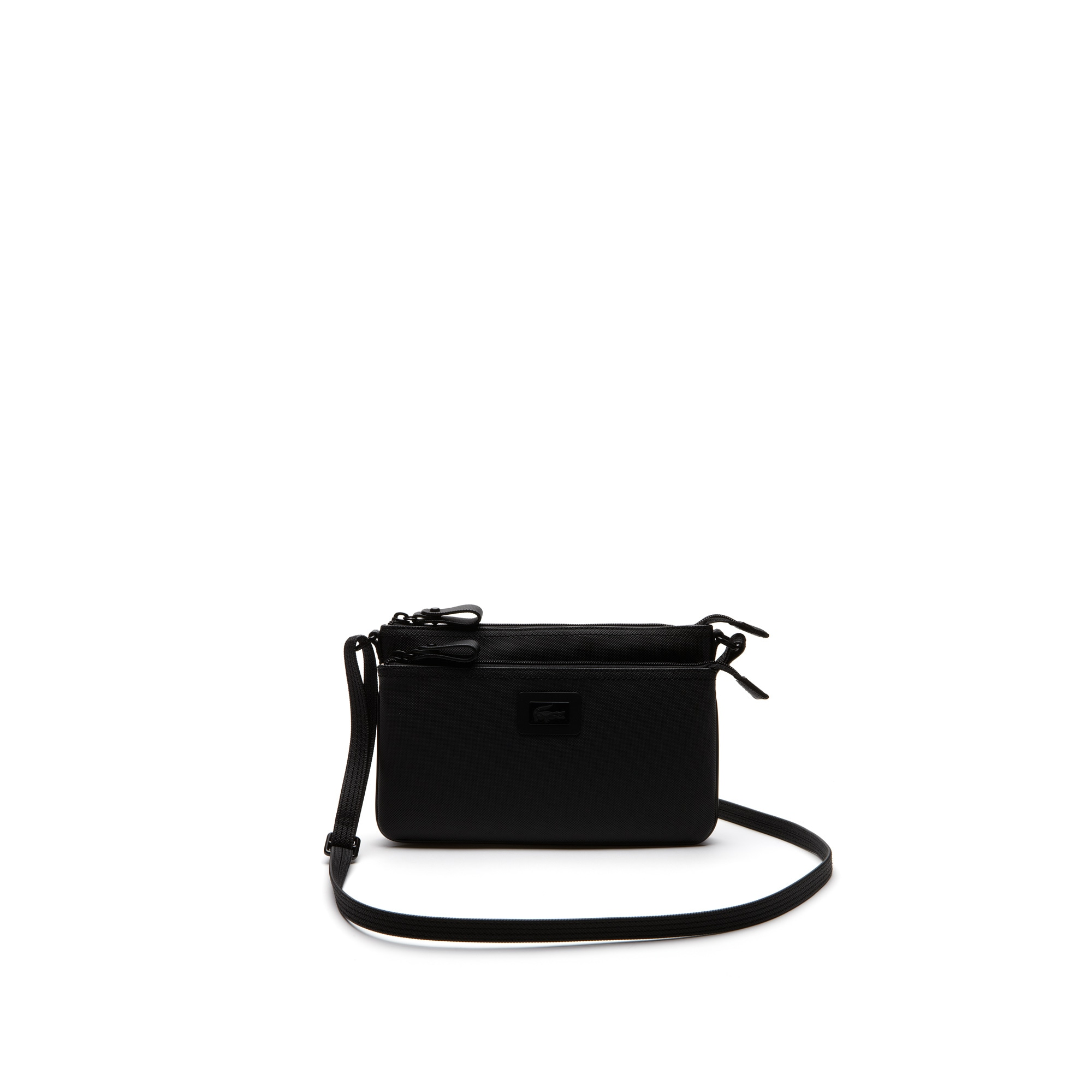 Women's Classic monochrome double zippered pouch