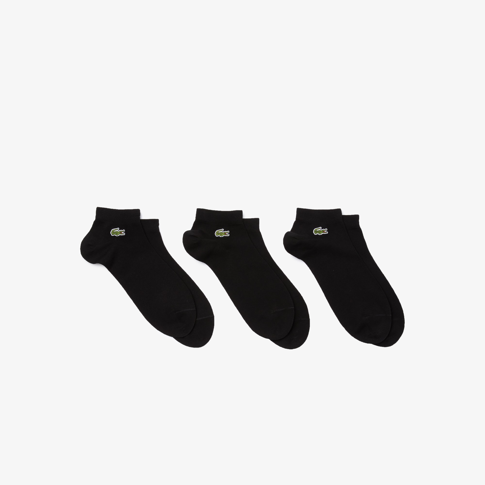 Pack Tres Pares Calcetines Bajos Lacoste Punto Liso