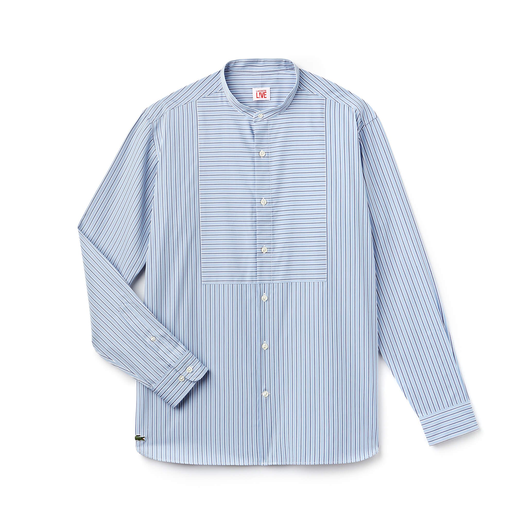 Men's Lacoste LIVE Boxy Fit Striped Poplin Shirt