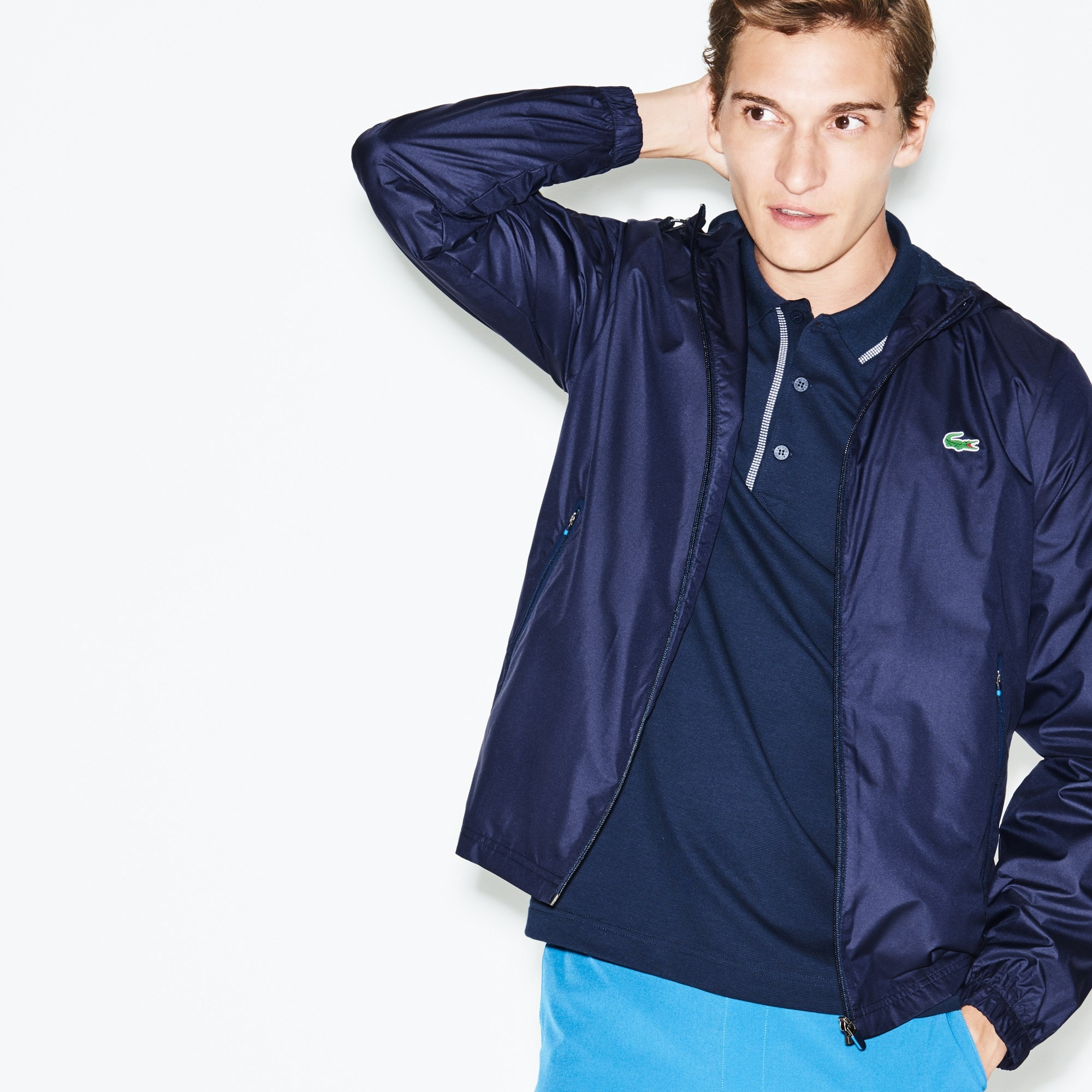 Men's Lacoste SPORT Metallic Technical Taffeta Zip Golf Jacket