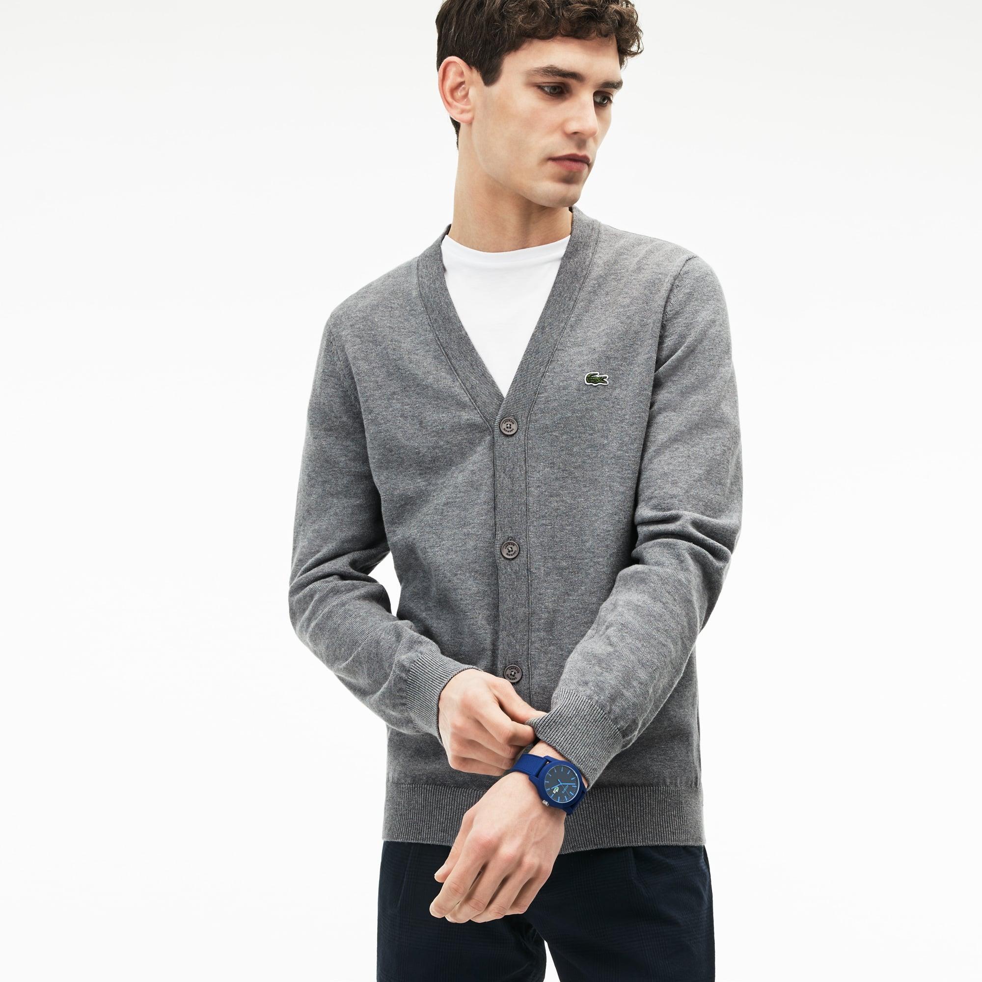Cárdigan de punto jersey de algodón liso