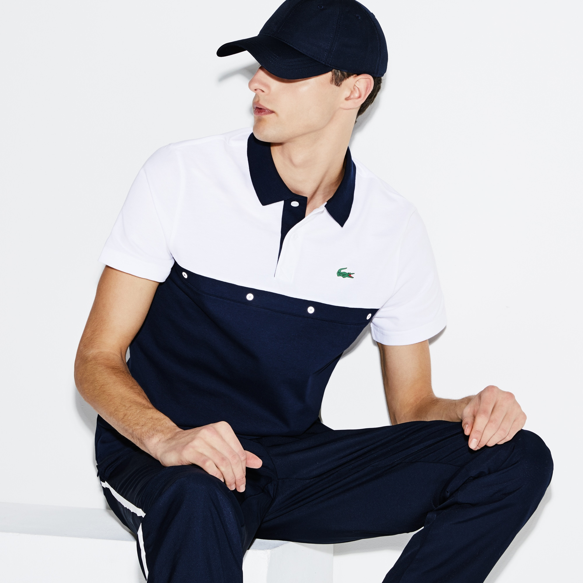Men's Lacoste SPORT Colorblock Cotton Knit Tennis Polo
