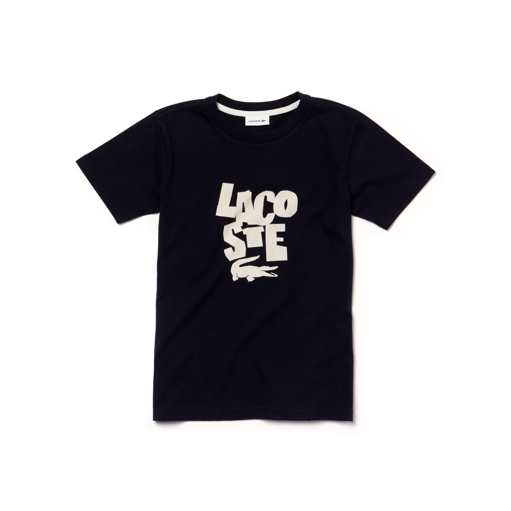 Camiseta De Punto Con Cuello Redondo Para Niño Con Las Letras De La Marca Impresas