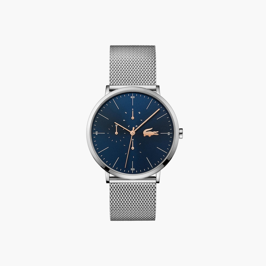Gents Moon Multifonction Watch with Stainless Steel Mesh Band Strap