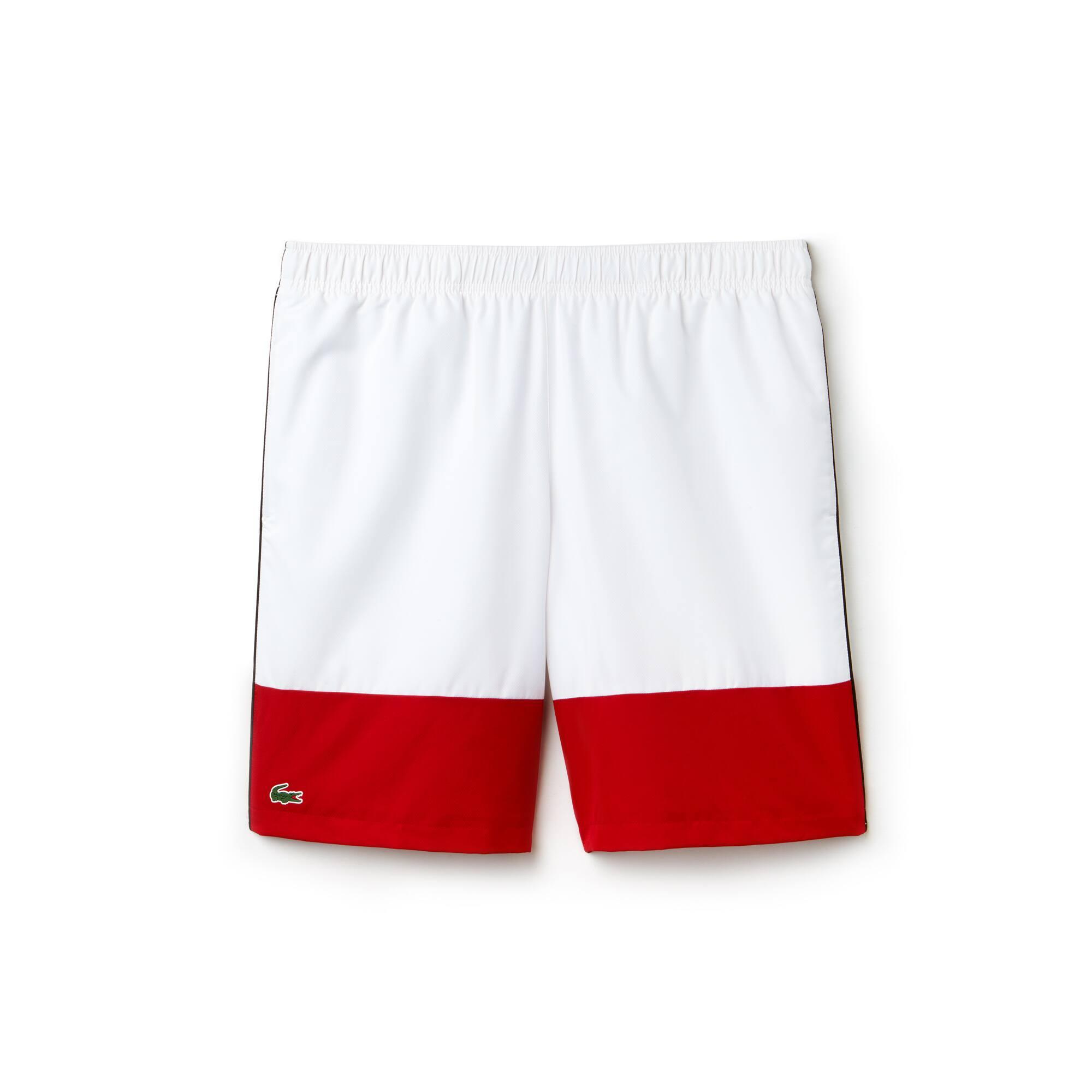 Pantalón corto Lacoste SPORT en tafetán color block