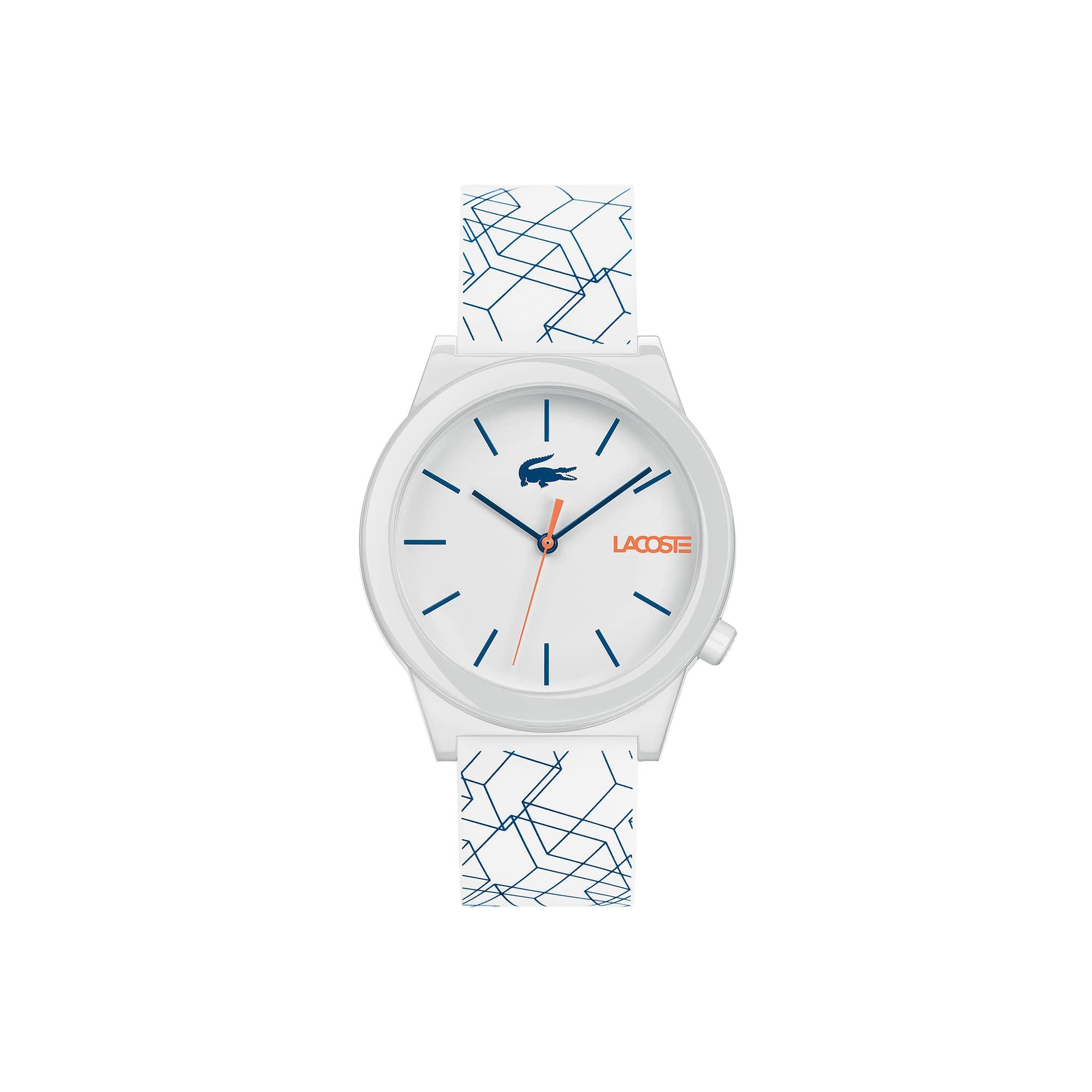 Reloj de Hombre Motion con Correa de Silicona Blanca
