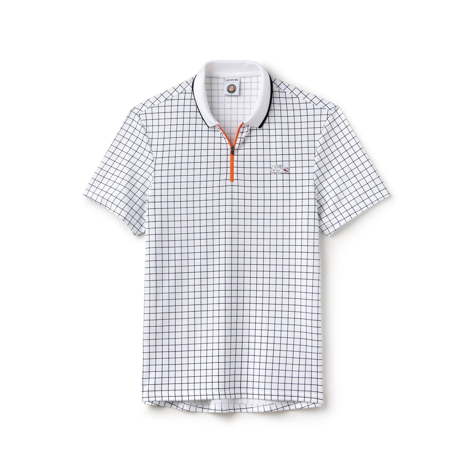Polo Lacoste Sport De Mini Piqué Técnico Estampado Edición Roland Garros