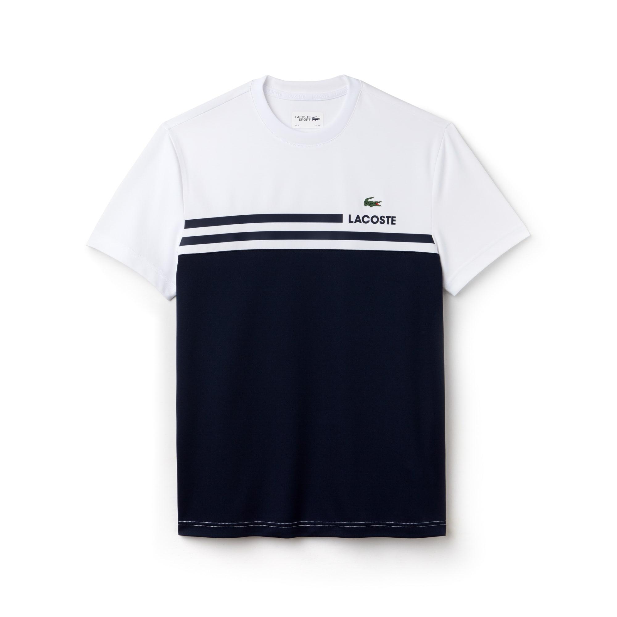 Camiseta Tenis Lacoste Sport De Piqué Técnico Color Block