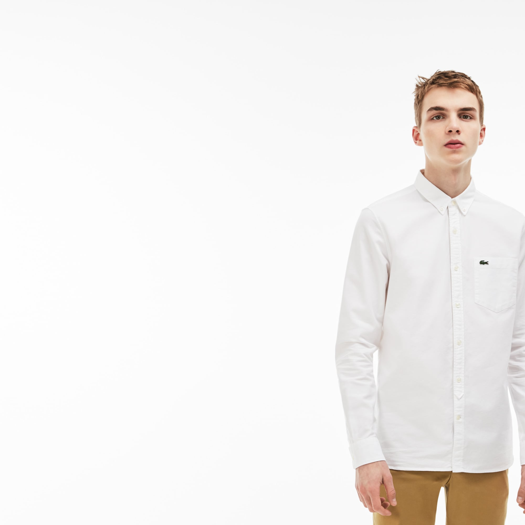 Camisa Hombre Oxford Skinny Fit Lacoste Live