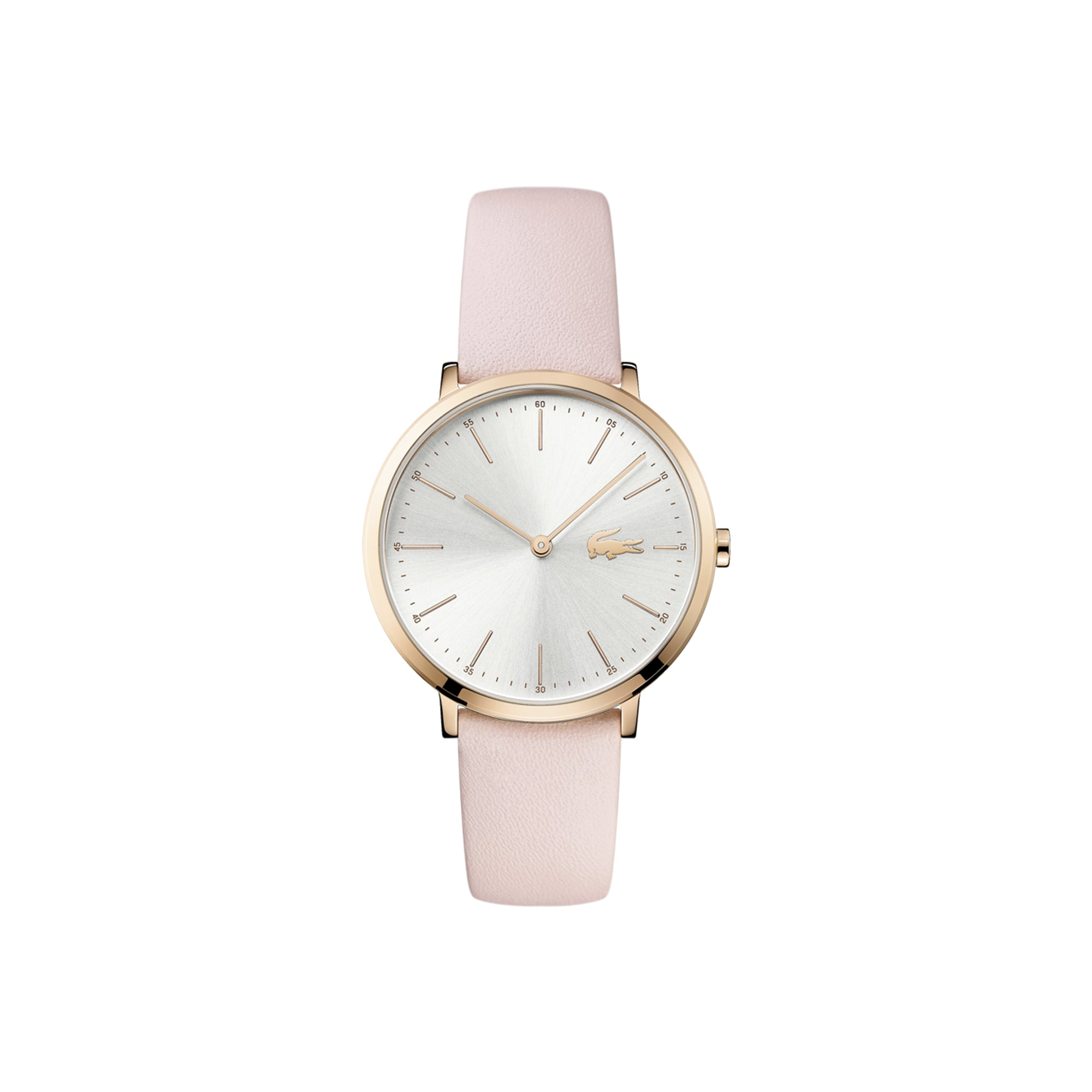 Women's Moon Watch with Pink Leather Strap