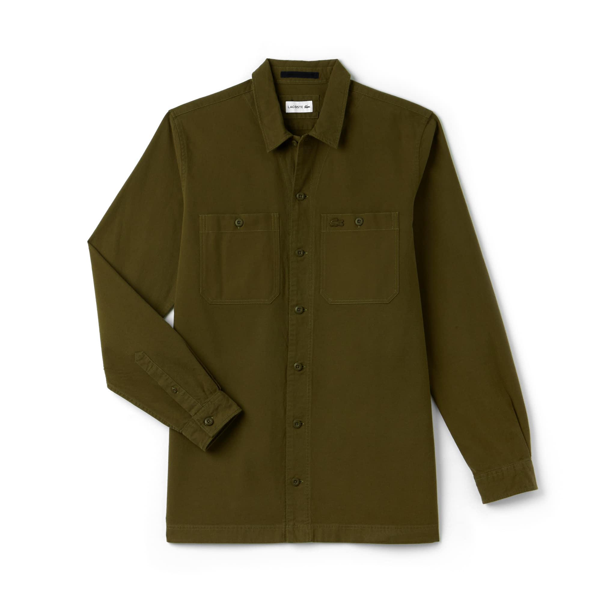 Camisa De Hombre Regular Fit En Franela De Algodón Ligero
