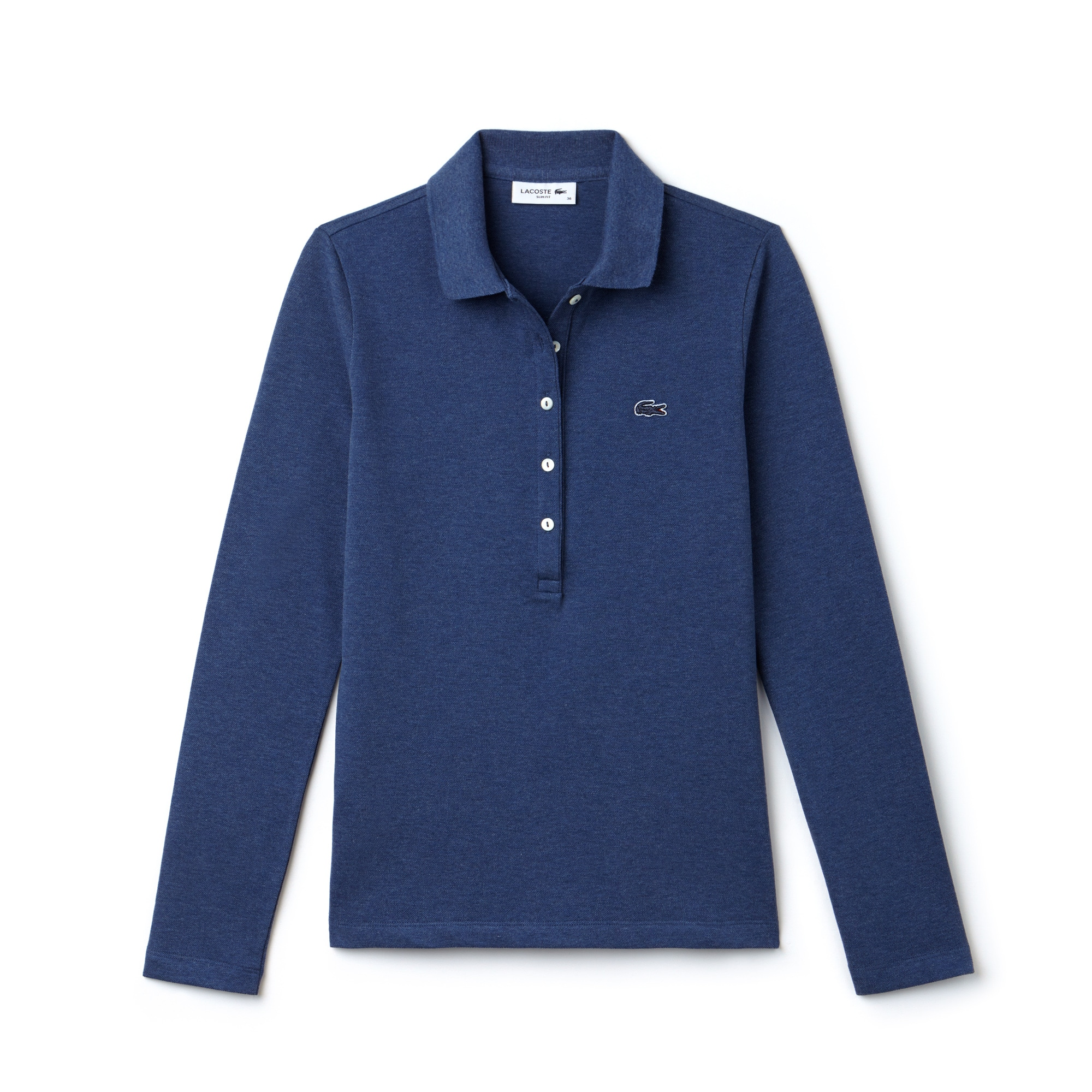 Polo slim fit Lacoste à manches longues en mini piqué stretch