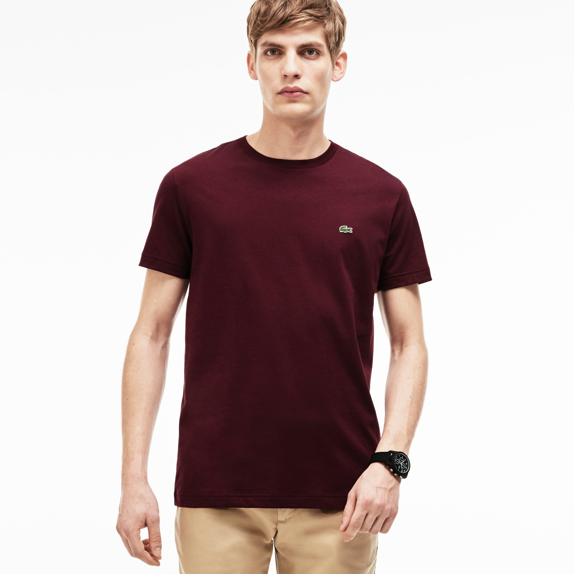 T-shirt col rond coupe ajustée en coton