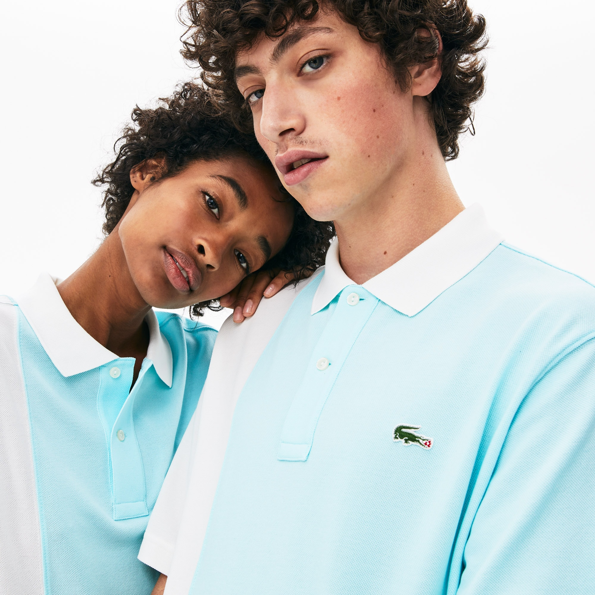 Polo unisexe loose fit Lacoste LIVE x GOLF le FLEUR en piqué color-block