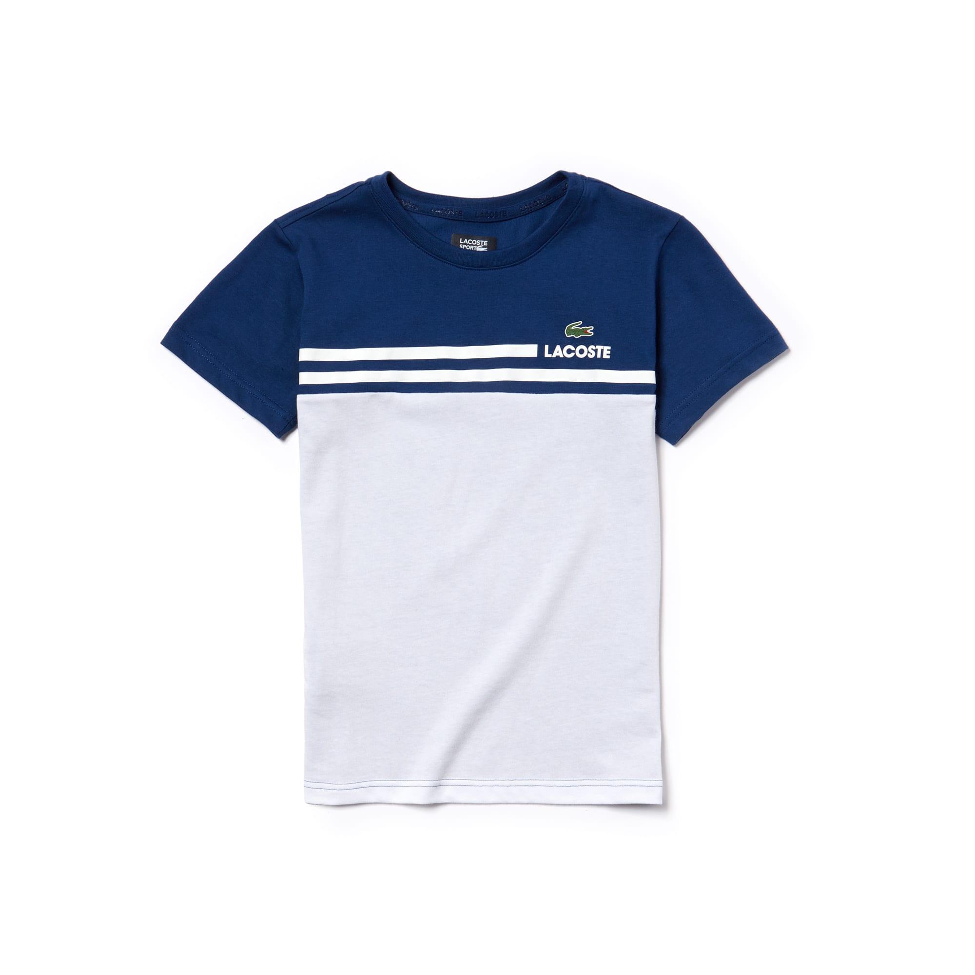 T-shirt Garçon Tennis Lacoste SPORT en jersey technique color block