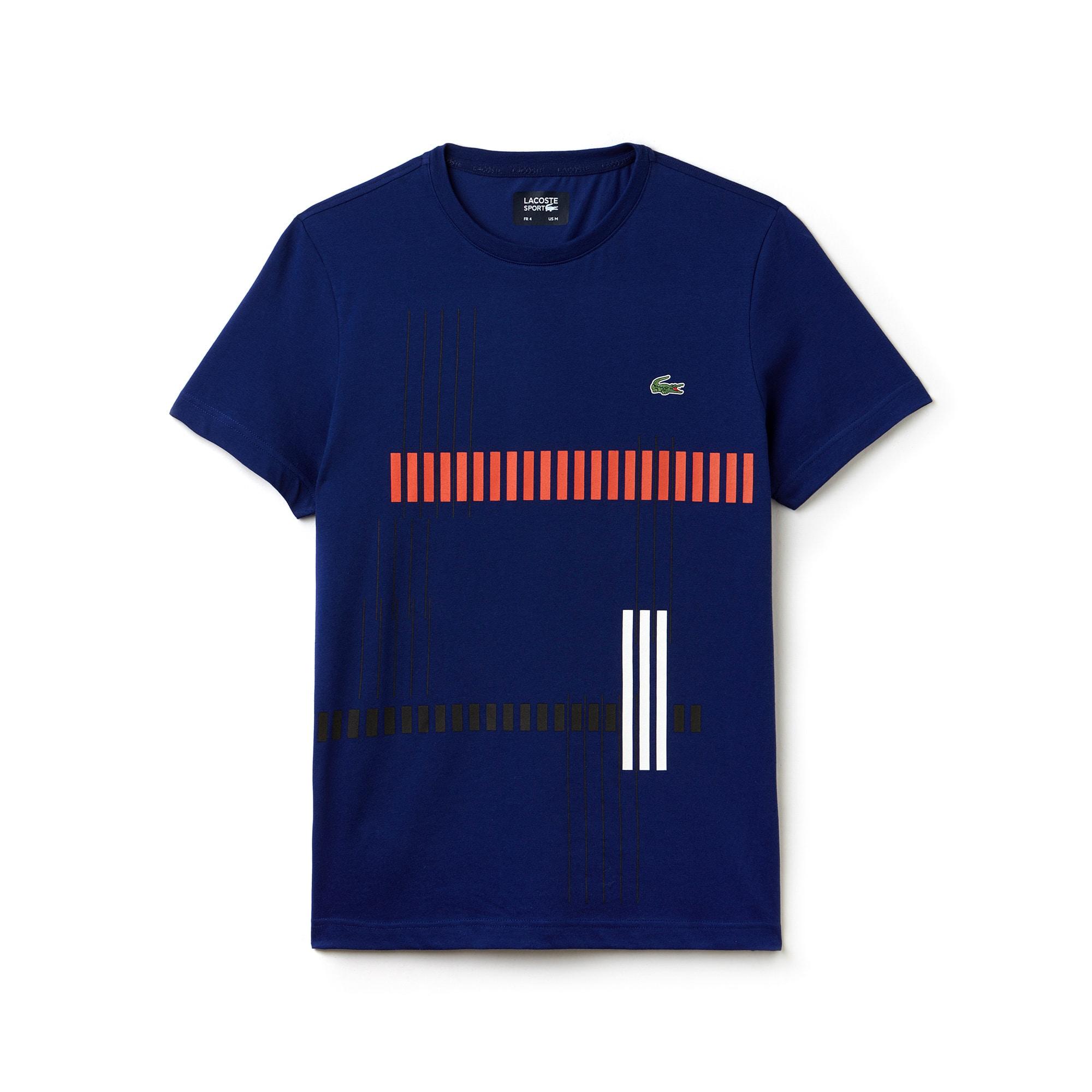 T-shirt Tennis Lacoste SPORT en jersey technique avec marquage rayé