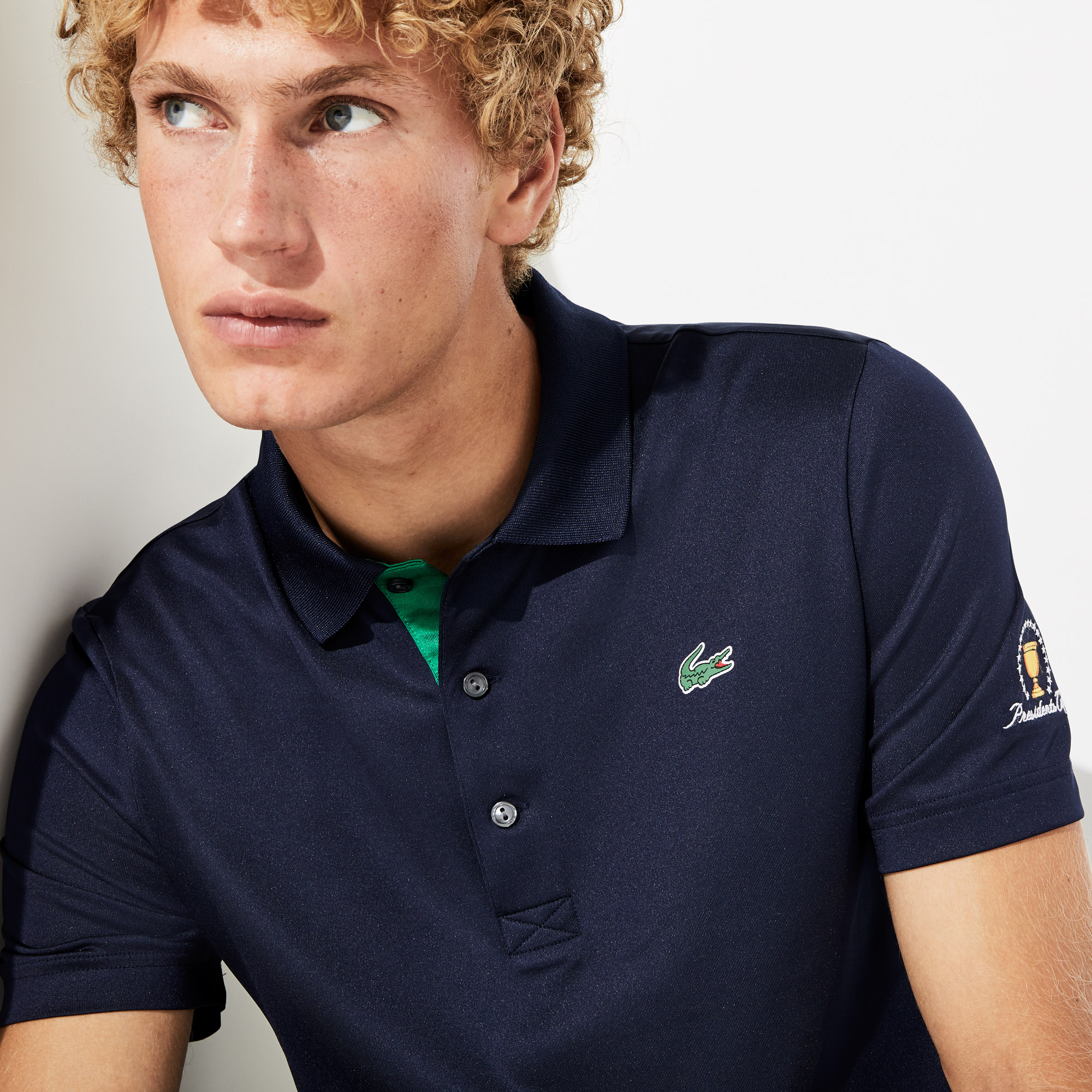 Polo Golf Presidents Cup en jersey stretch respirant uni