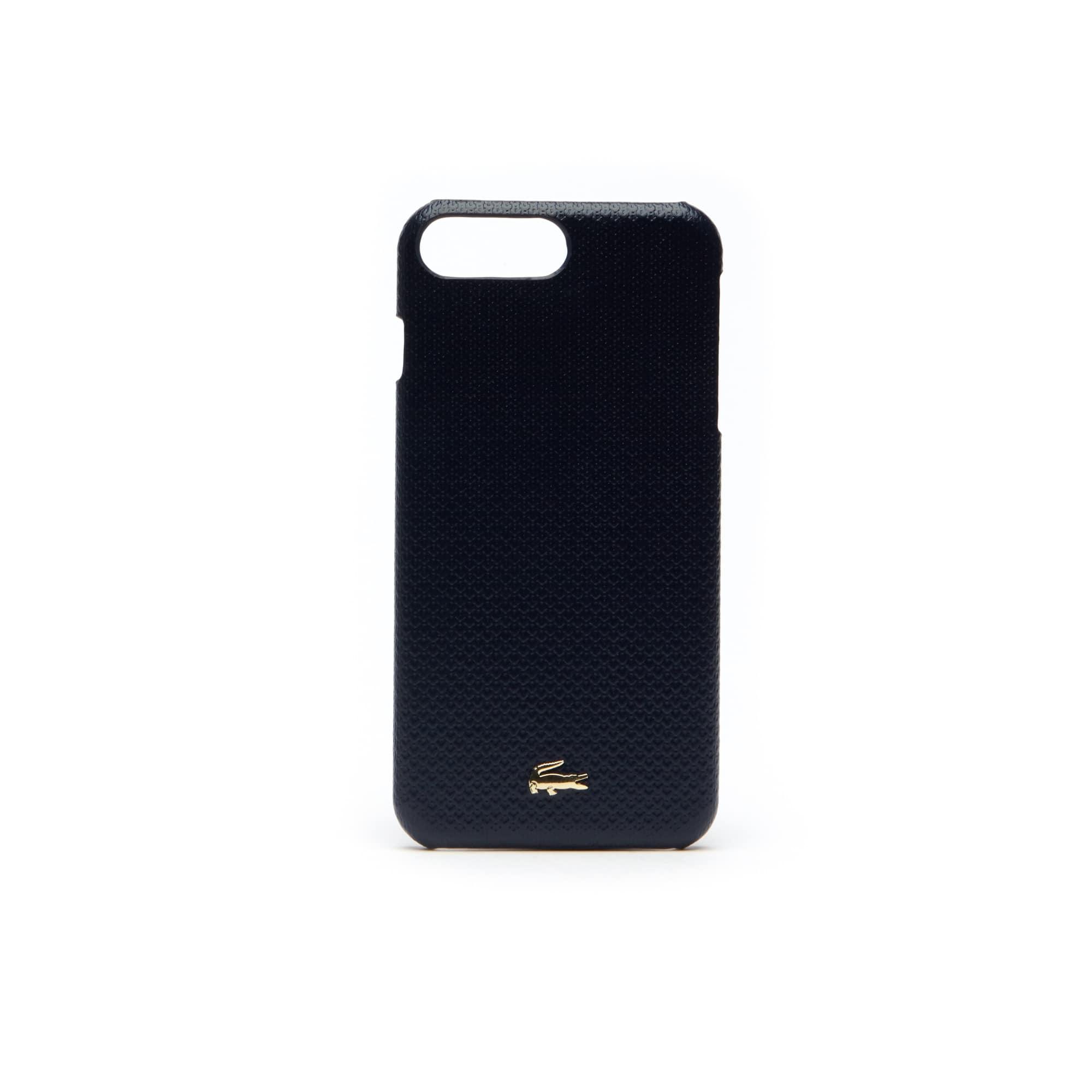 Coque iPhone 8+ Chantaco en cuir piqué uni