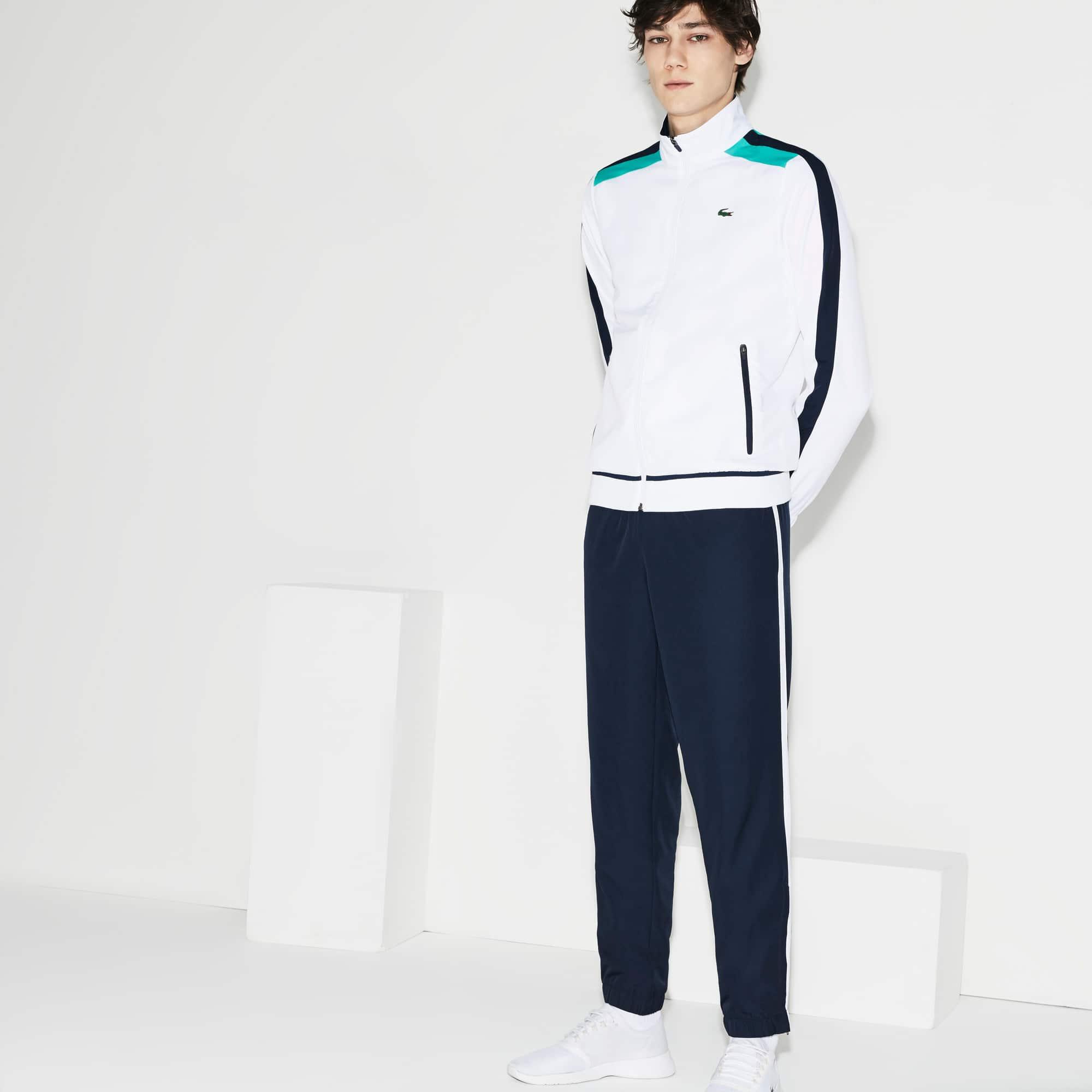 Ensemble de survêtement Tennis Lacoste SPORT en taffetas à bandes contrastées