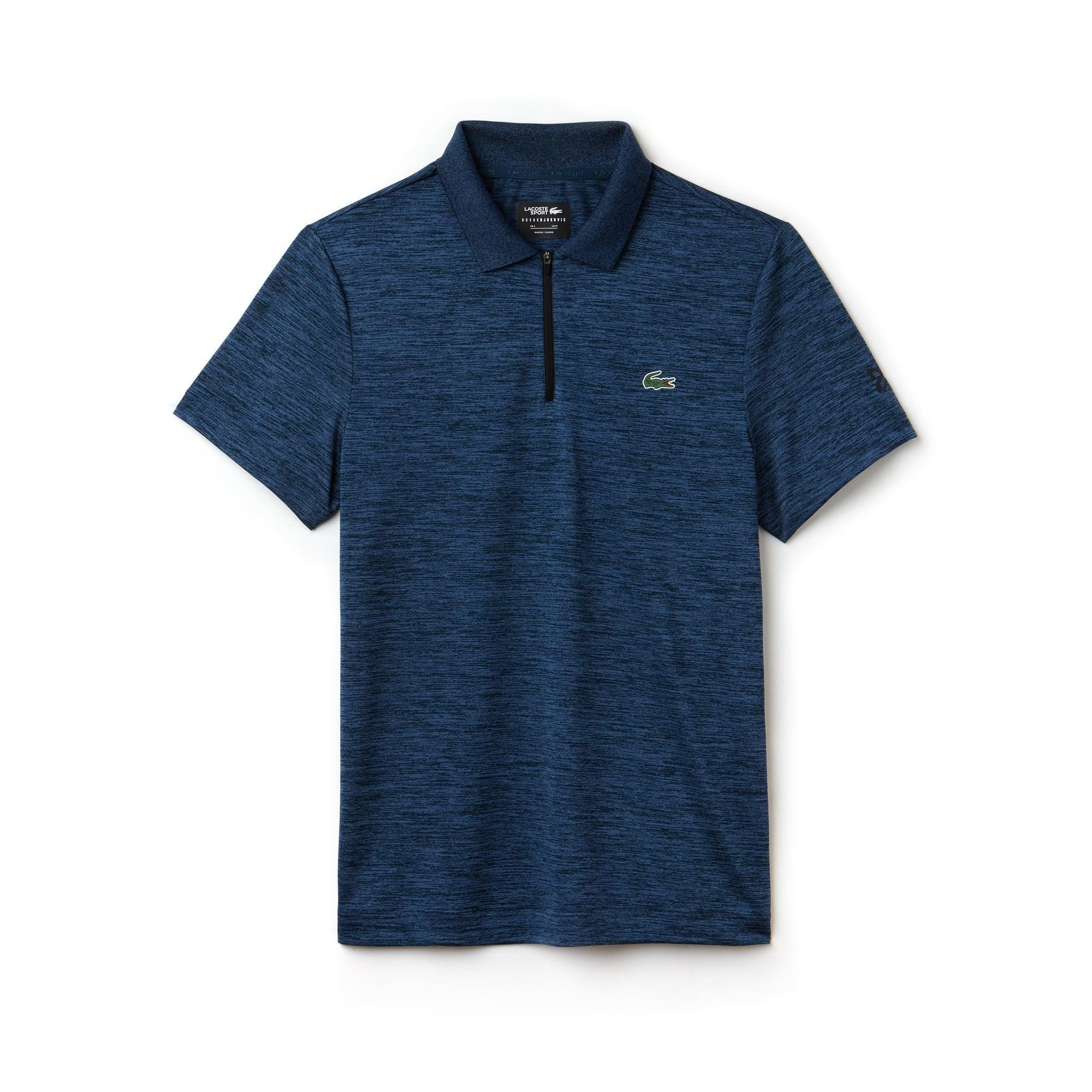 Polo Lacoste SPORT Collection Novak Djokovic - Off Court en jersey technique chiné