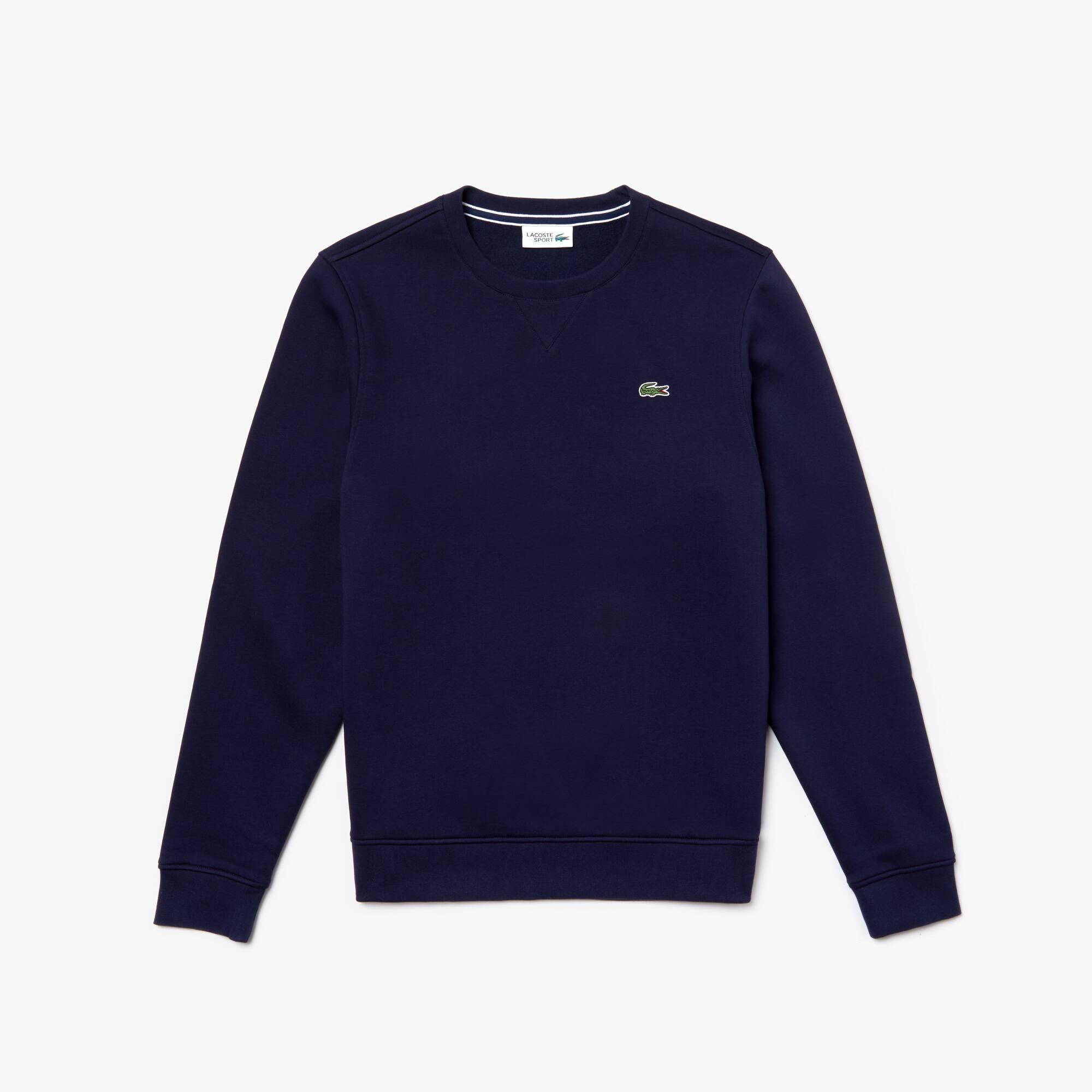 Sweatshirt col rond Lacoste SPORT en molleton uni