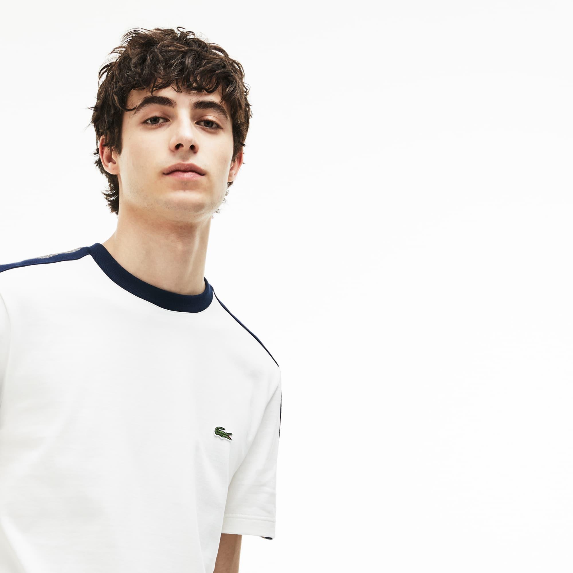 T-shirt col rond Made in France en jersey à bandes contrastées
