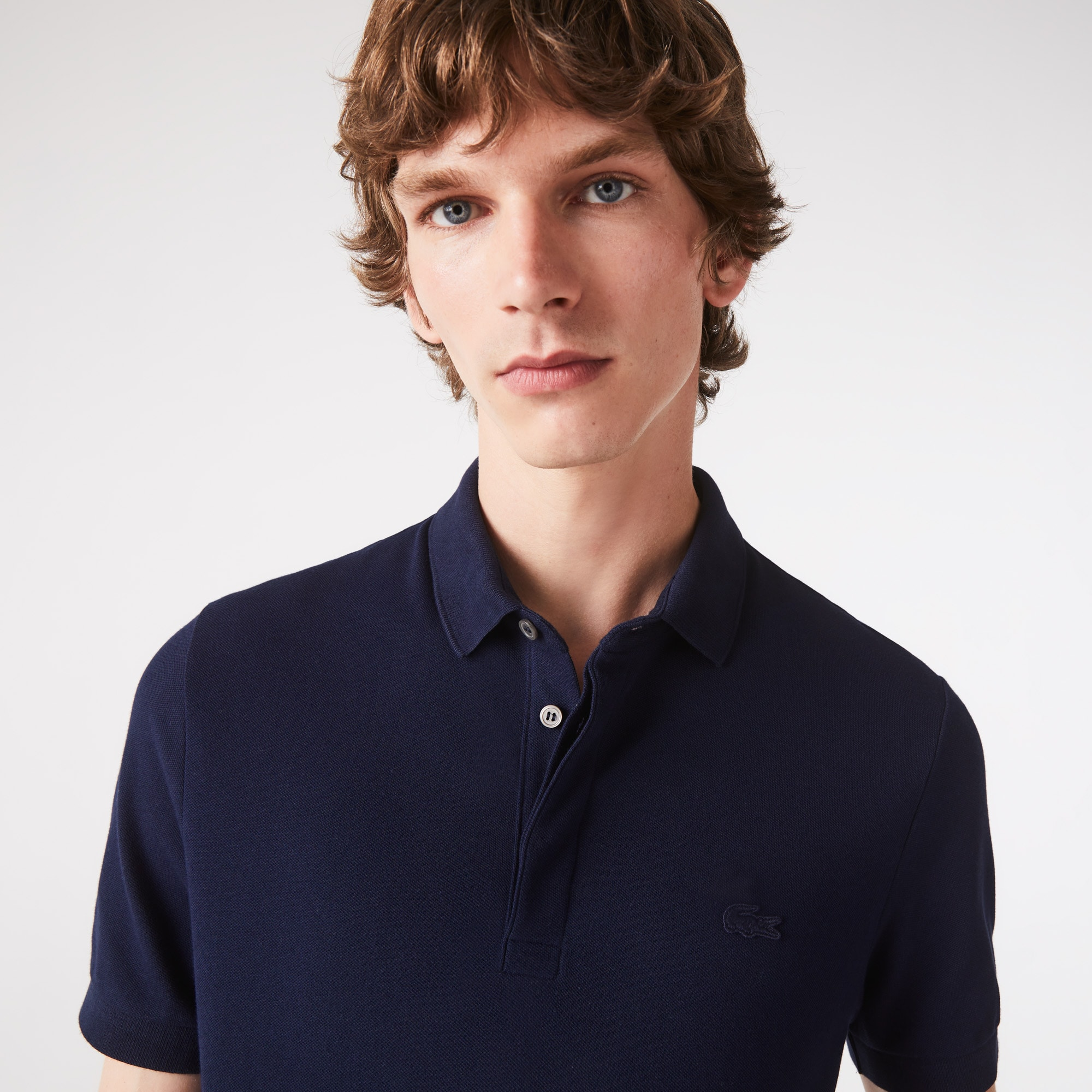 Paris Polo regular fit Lacoste en piqué de coton stretch