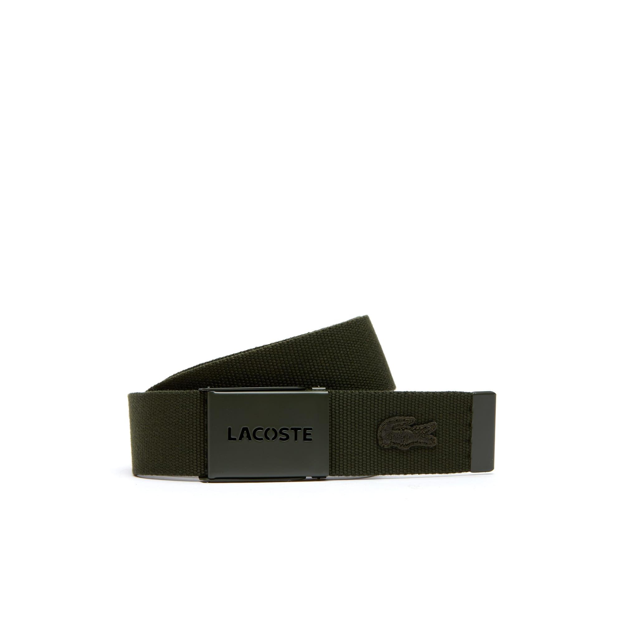 Coffret cadeau avec ceinture en toile plaque monochrome perforée Lacoste