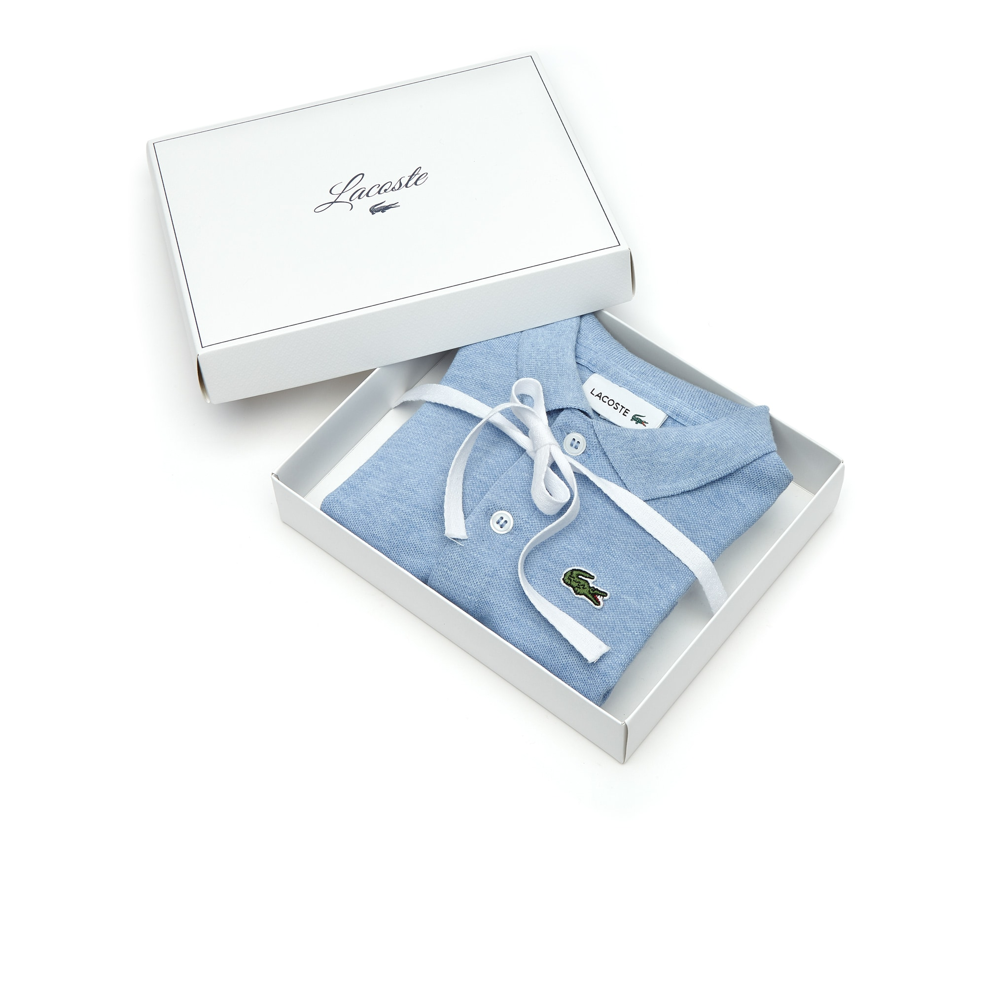 Coffret body en piqué de coton stretch uni