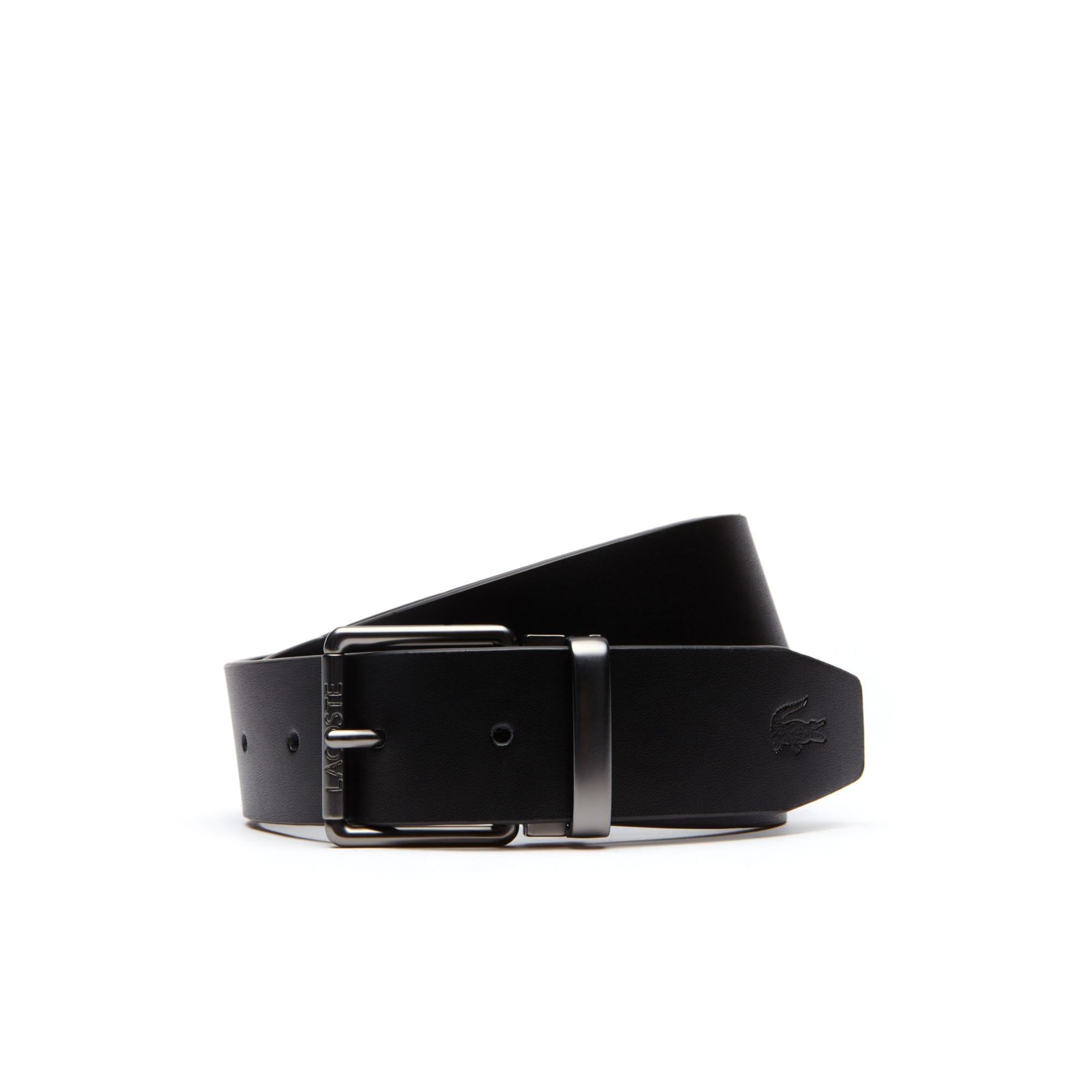 97715f1477cd Trousse de voyage 2 ceintures en cuir avec boucle et plaque