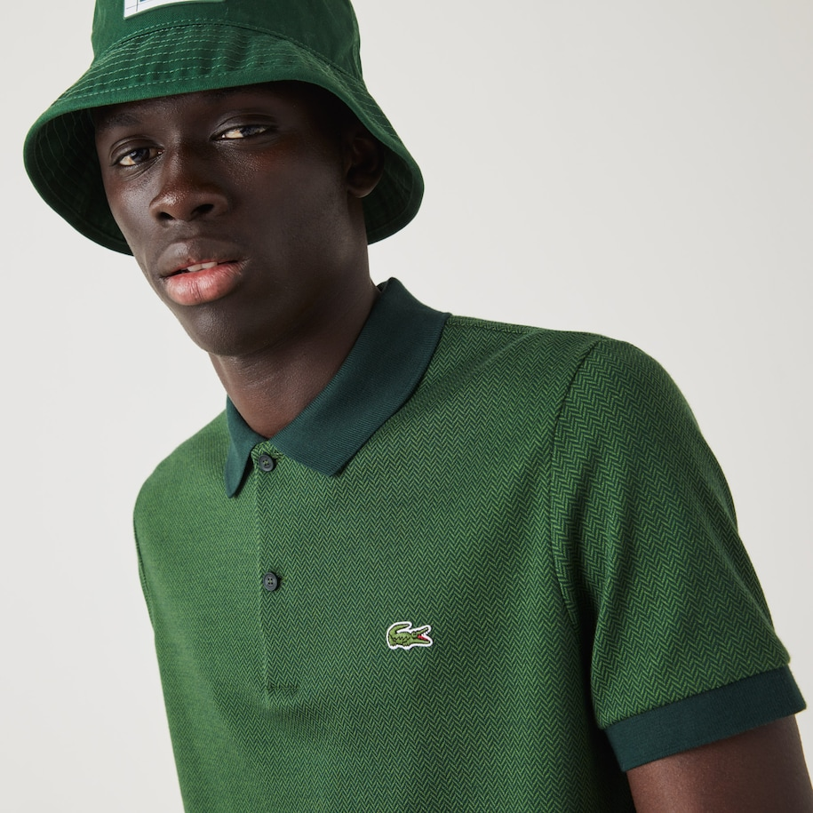 Polo Lacoste regular fit en coton à motifs