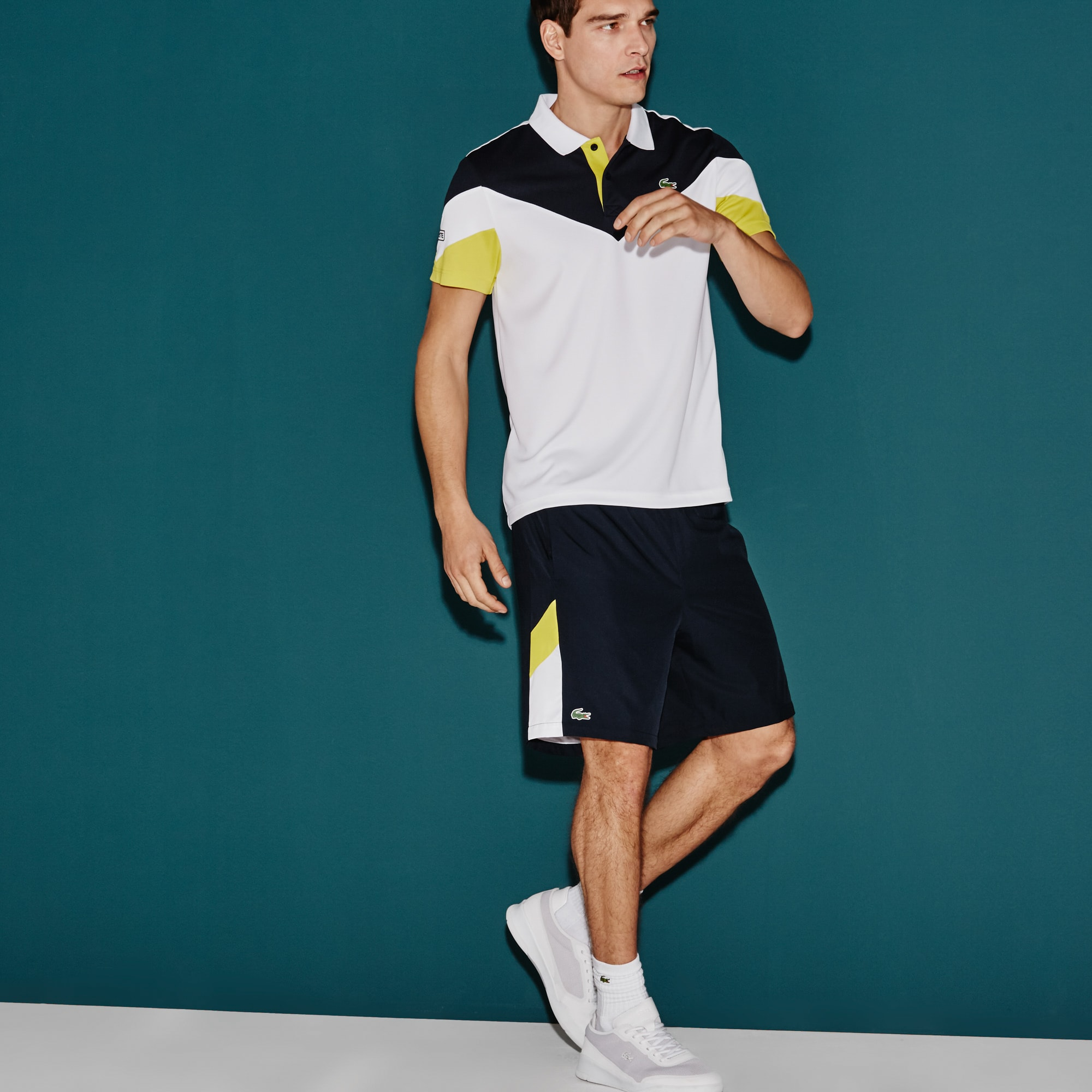 Short Tennis Lacoste SPORT avec bandes color block