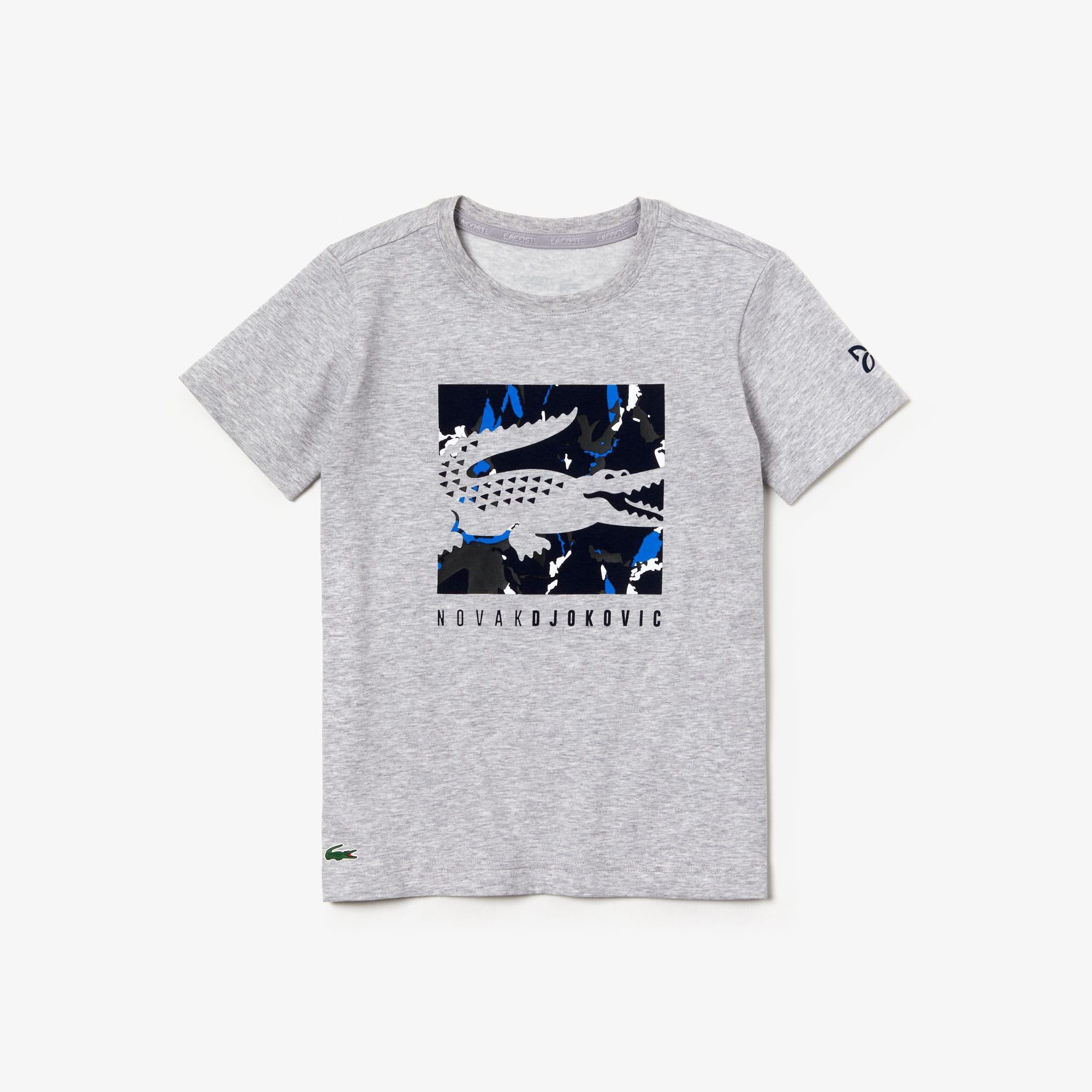 Lacoste Logo Graphique T-Shirt en Blanc