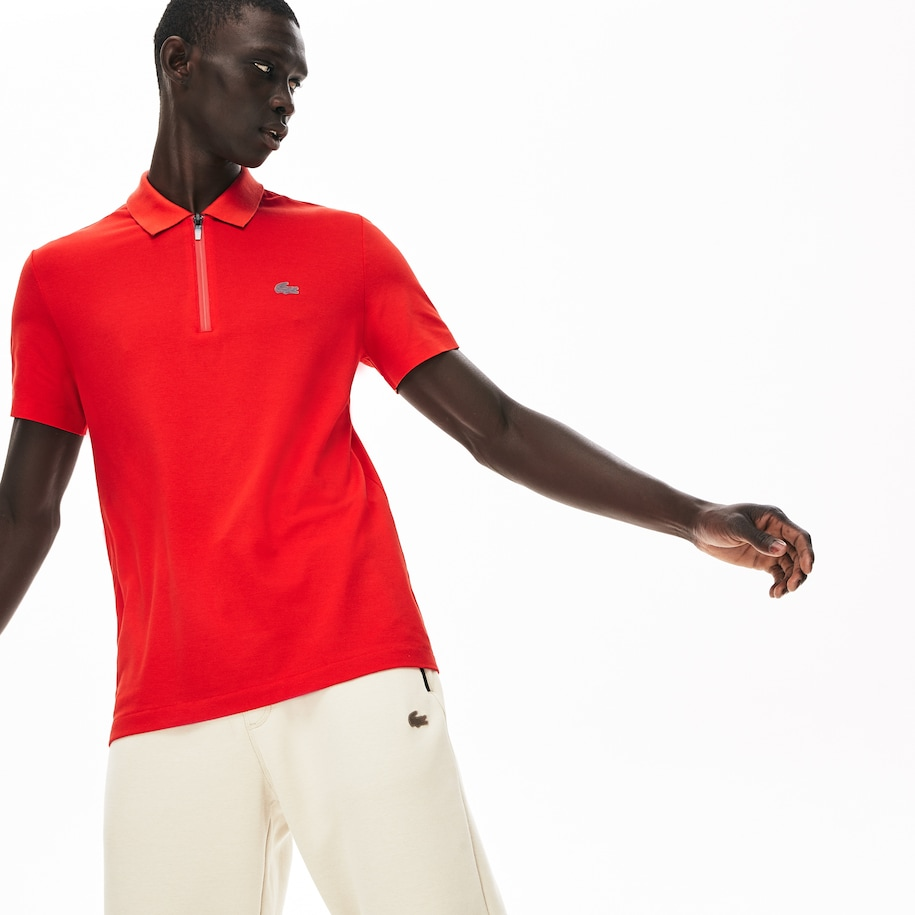 Polo Lacoste Motion regular fit en piqué de coton ultra léger