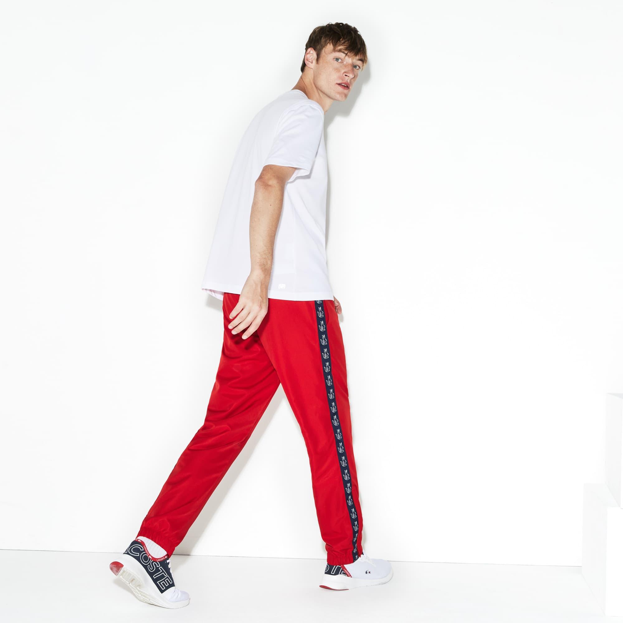 Imprimée Sport Avec De Lacoste Tennis Pantalon Survêtement Bande XgqIw0W