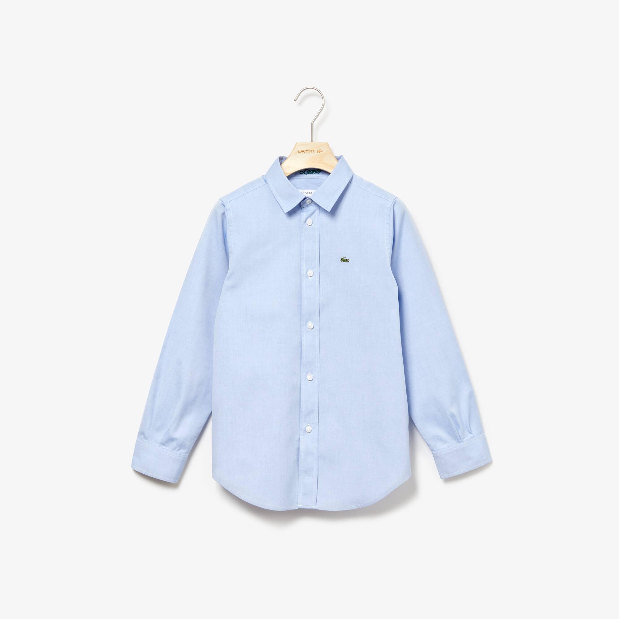 Chemise Enfant en coton Oxford uni