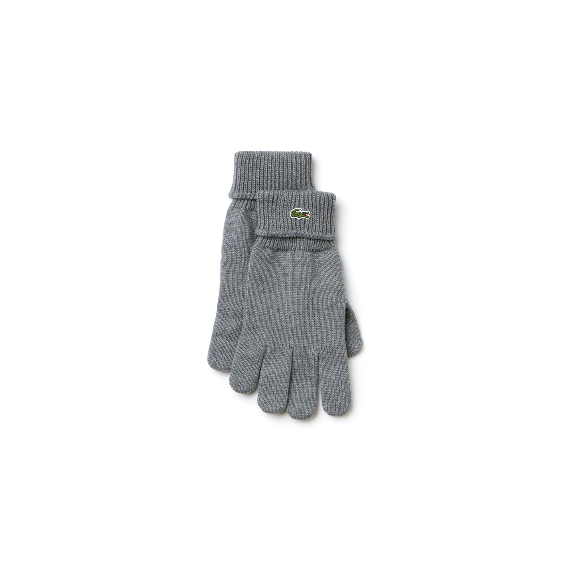 Gants en laine côtelée unie