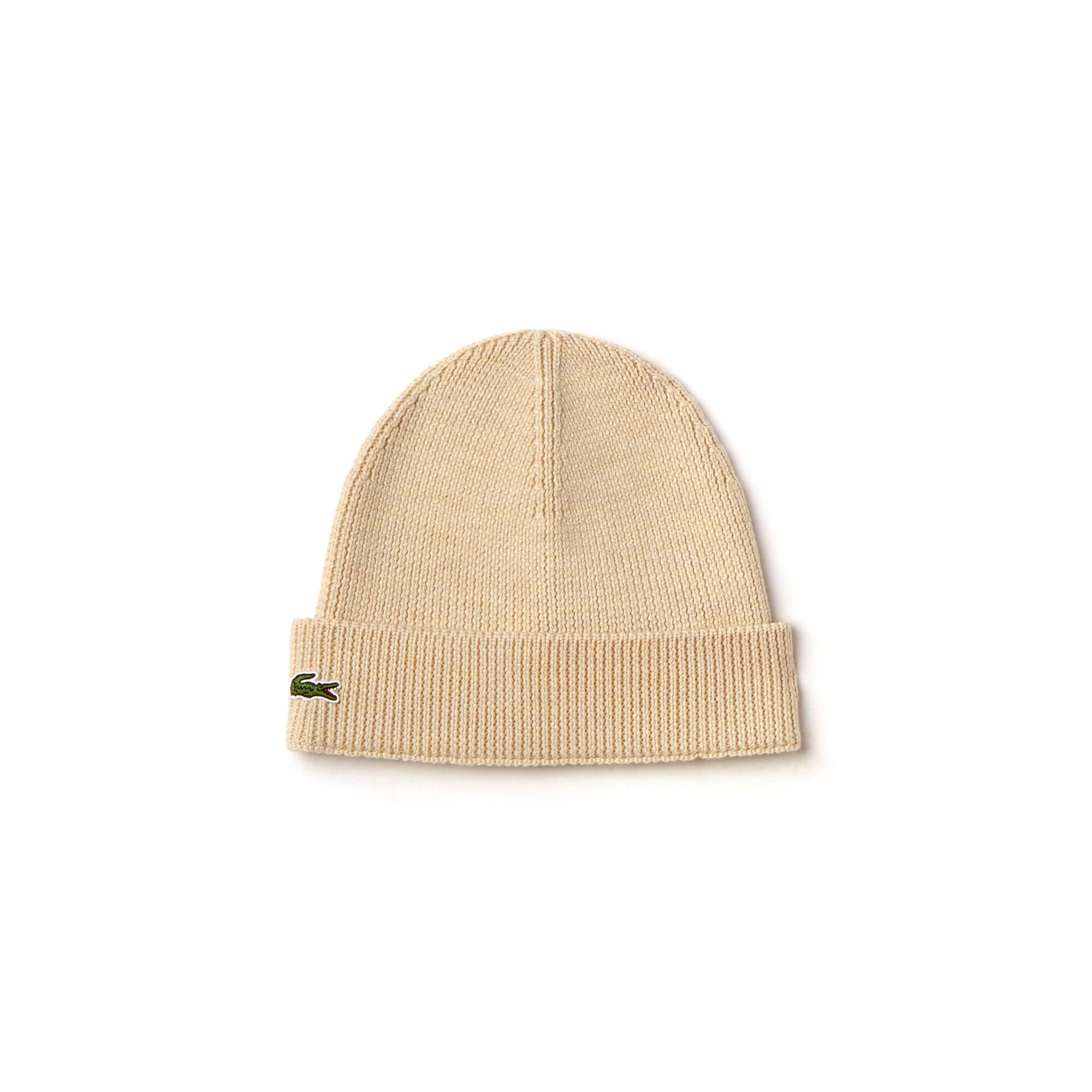 f994bd4334 Bonnet à revers en laine côtelée unie · + 3 couleurs