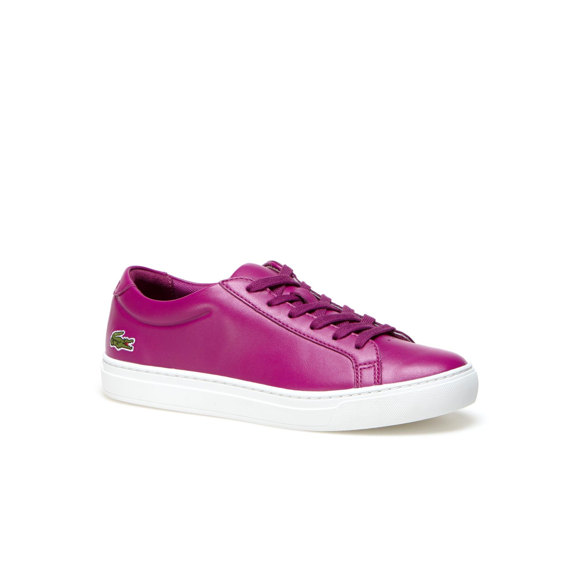 Sneakers L.12.12 en cuir brillant monochrome