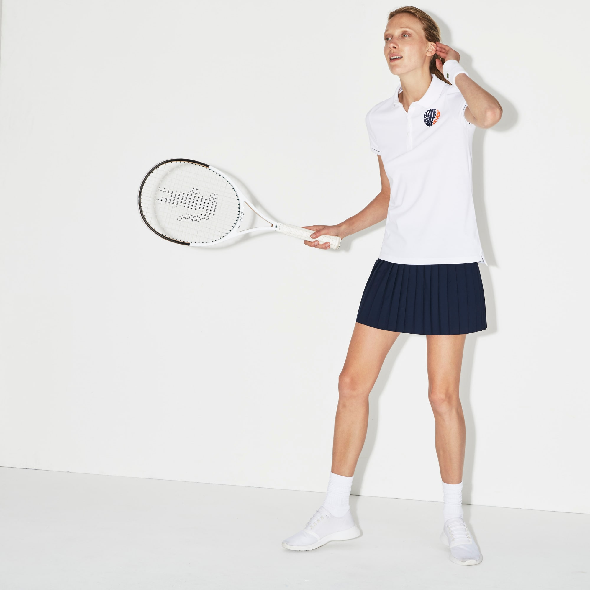 Polo Lacoste SPORT en mini piqué stretch Édition Roland Garros