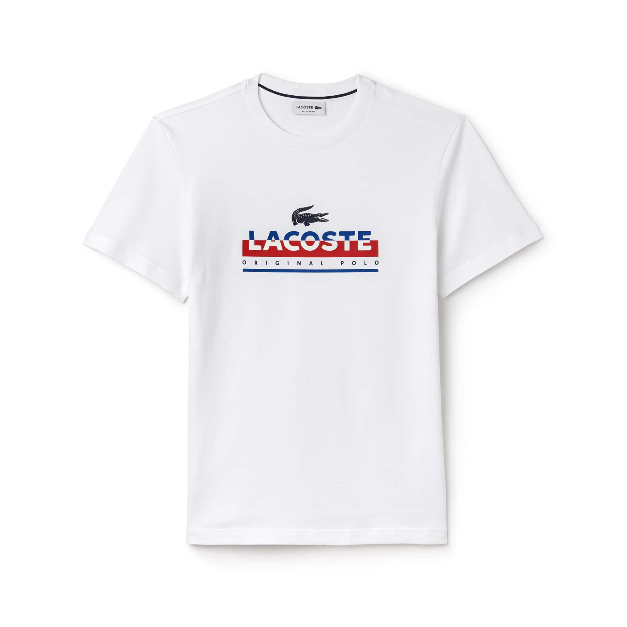 T-shirt col rond en jersey avec imprimé lettrage